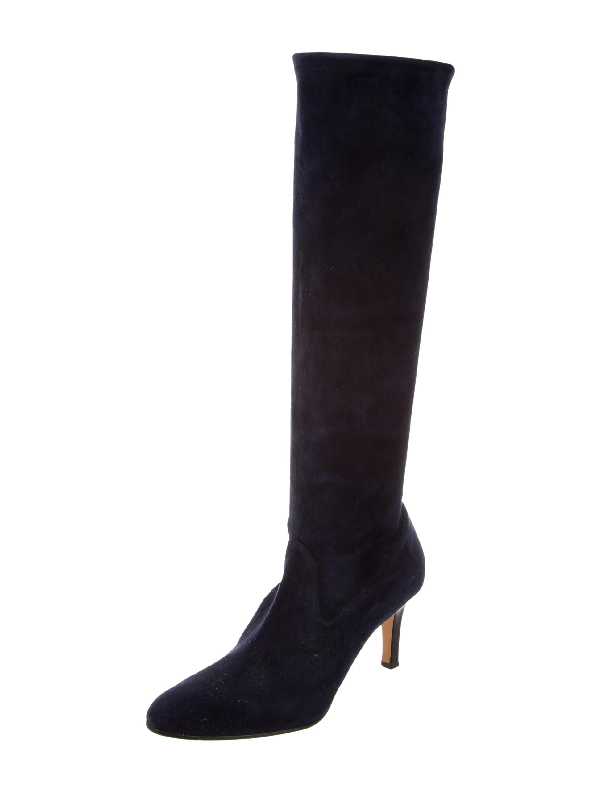 manolo blahnik knee high suede boots shoes moo60382