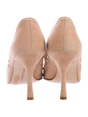 Mary Jane Pointed-Toe Pumps