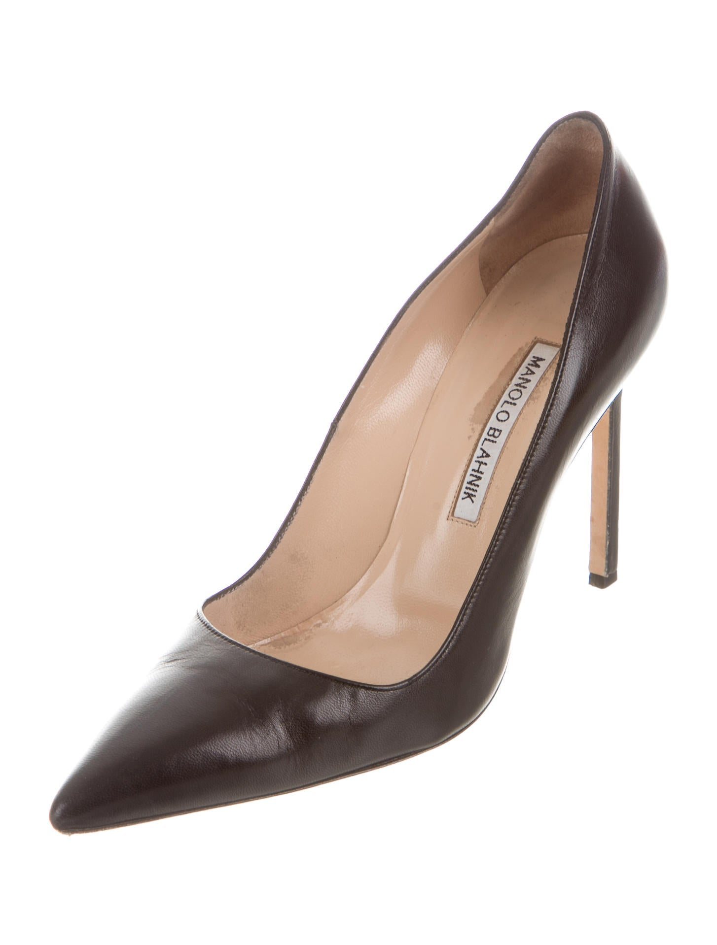 Manolo blahnik leather bb pumps shoes moo60444 the for Shoes by manolo blahnik