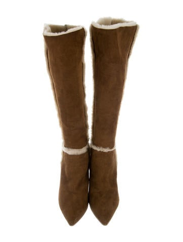Knee-High Shearling Boots