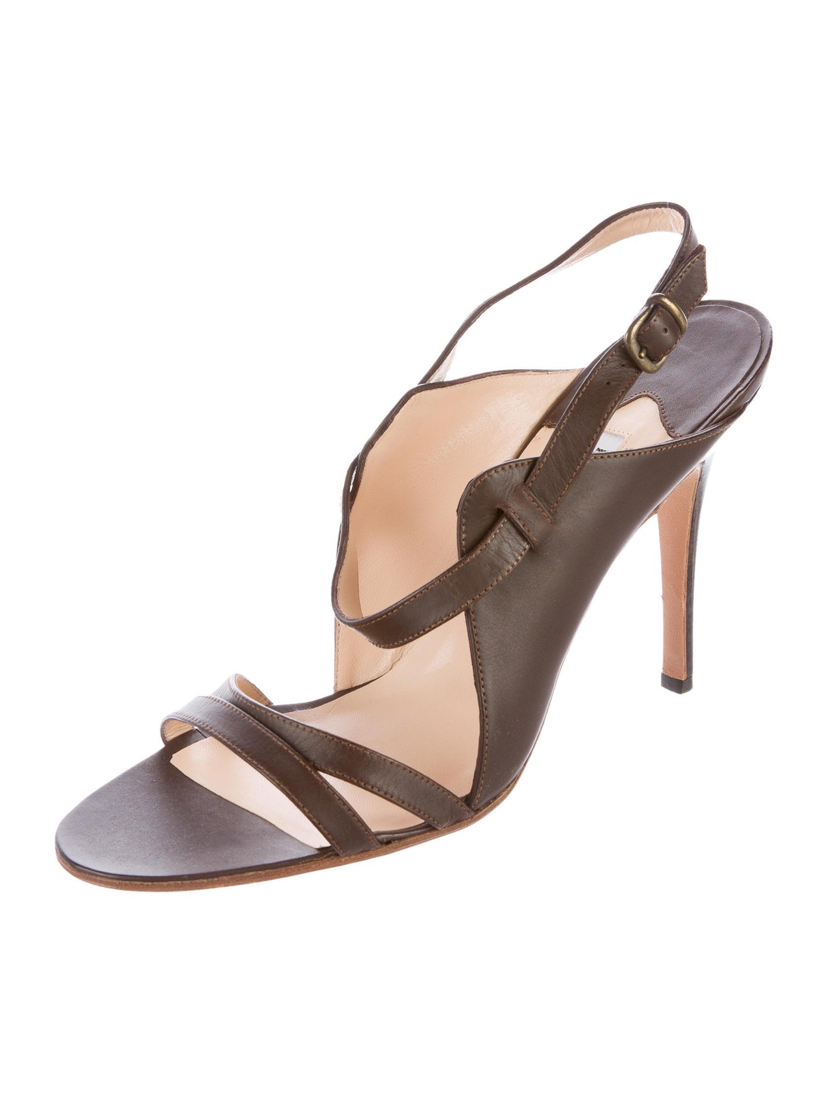 Manolo blahnik leather multistrap sandals shoes for Shoes by manolo blahnik