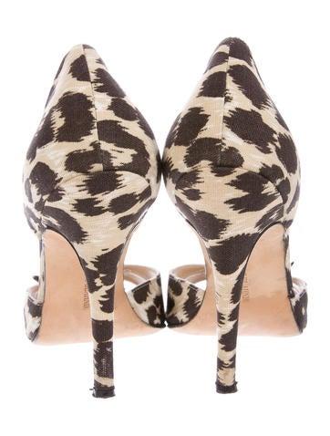 Leopard d'Orsay Sandals
