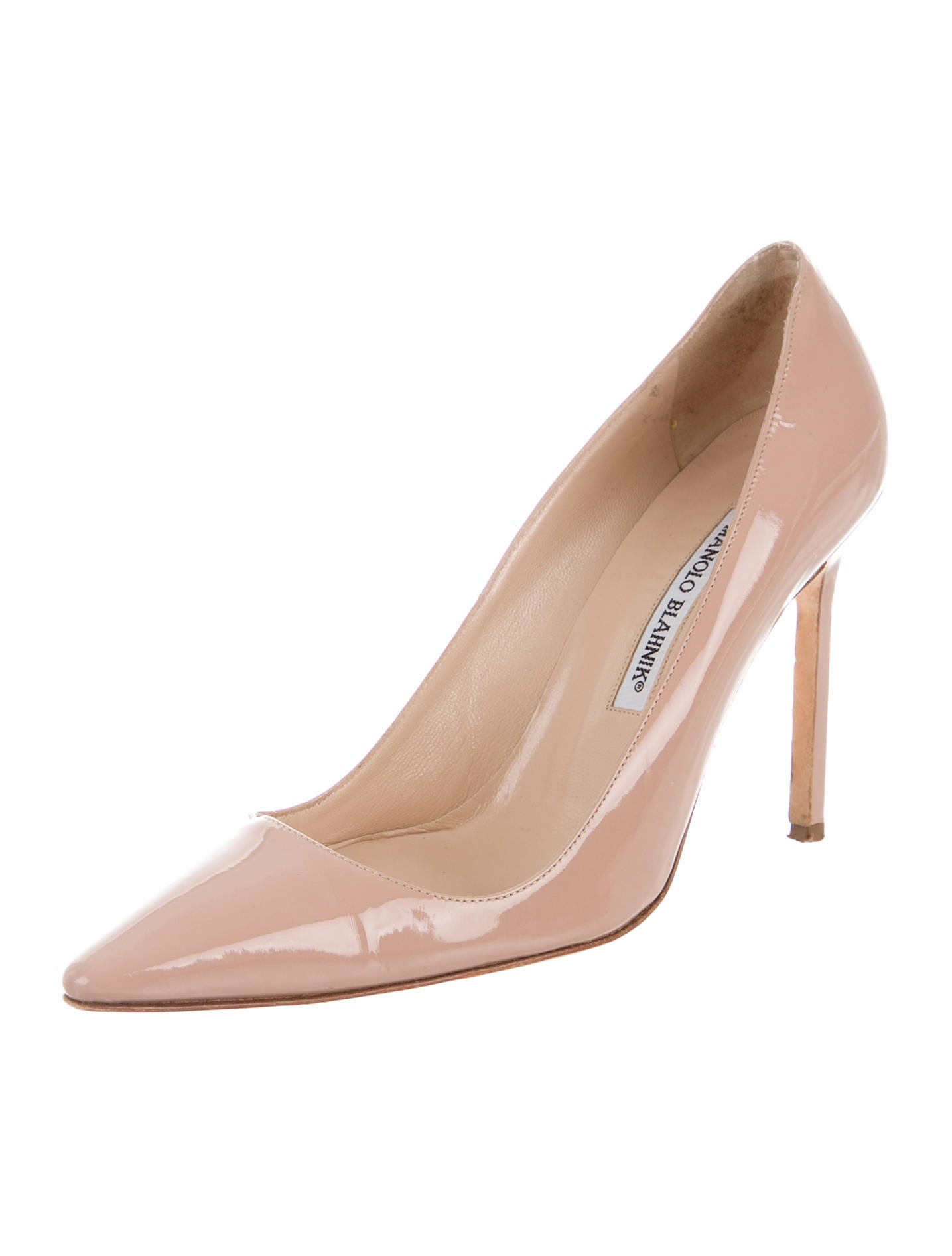 Manolo blahnik patent bb pumps shoes moo61144 the for Shoes by manolo blahnik