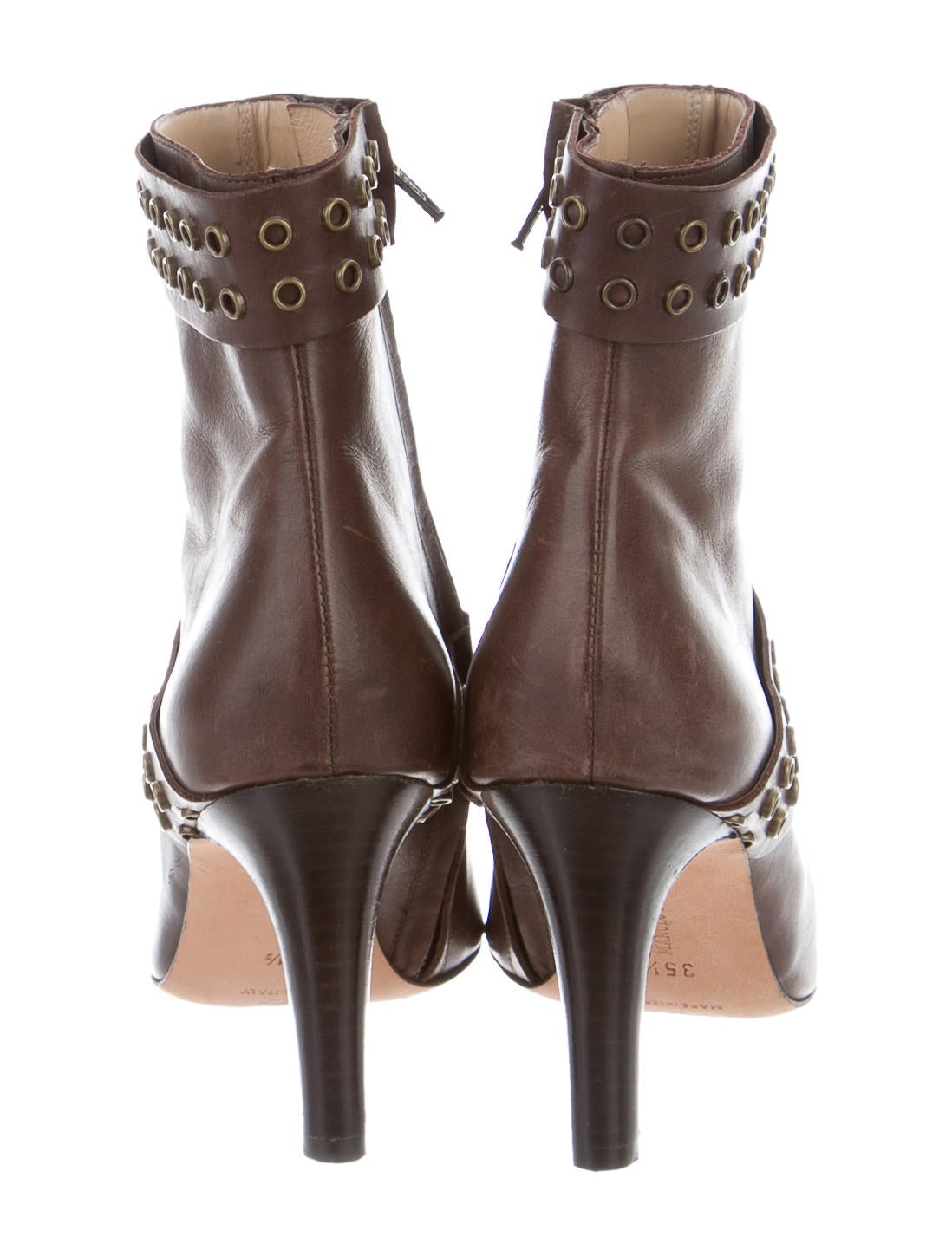 Manolo Blahnik Pointed Toe Ankle Booties Shoes