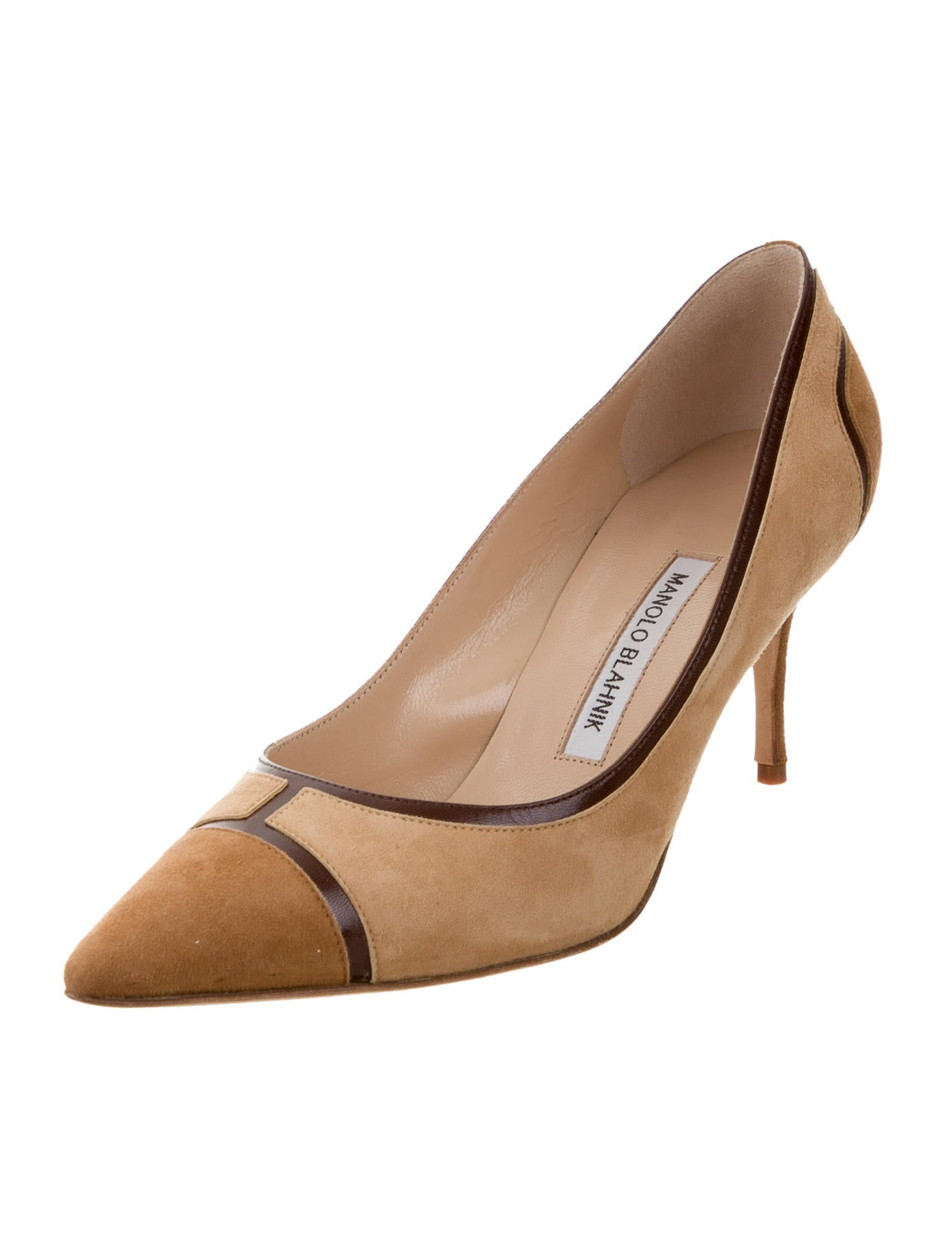 Manolo blahnik suede pointed toe pumps shoes moo61565 for Shoes by manolo blahnik