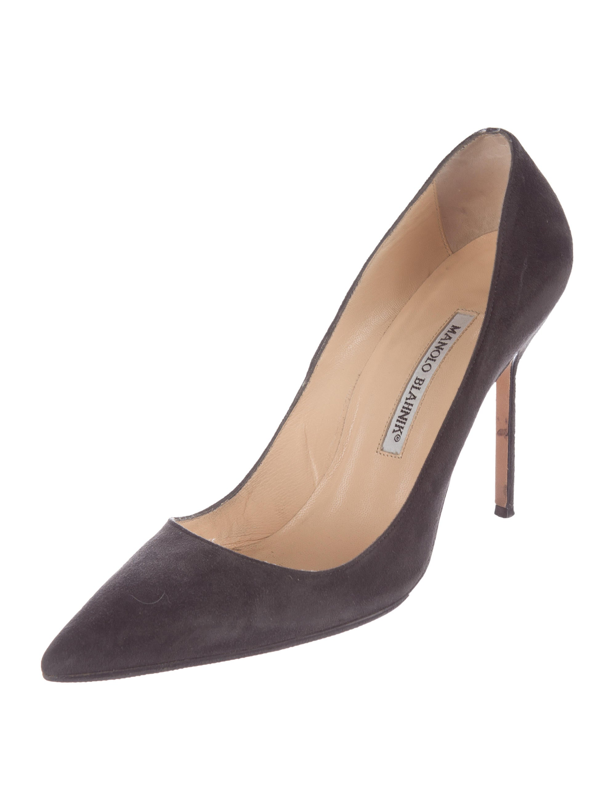 Manolo blahnik bb suede pumps shoes moo61916 the for Shoes by manolo blahnik
