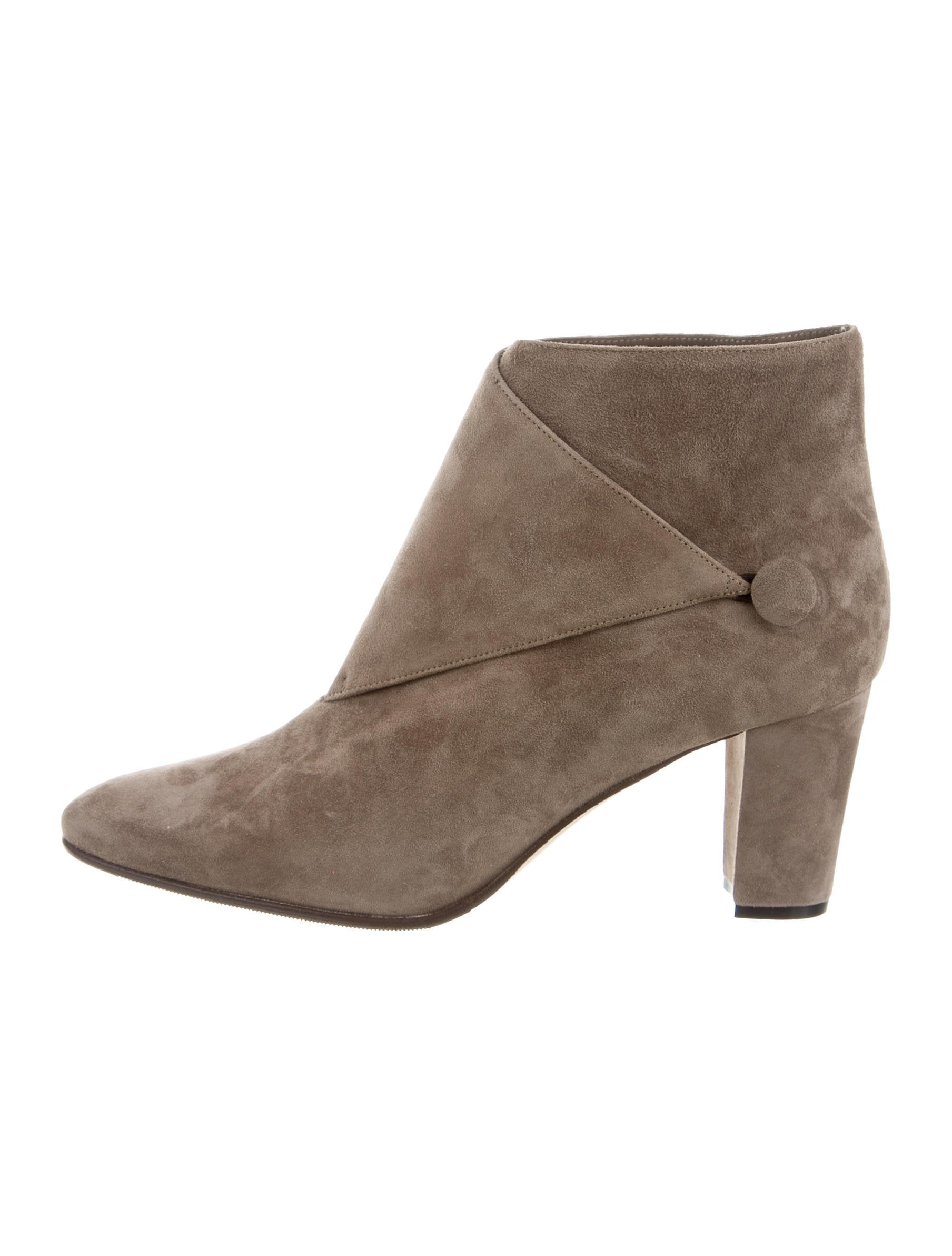 Manolo Blahnik Suede Ankle Boots - Shoes - MOO62106 | The ...