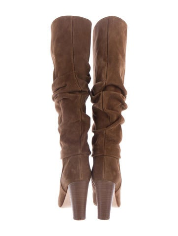 manolo blahnik ruched suede boots shoes moo62919 the