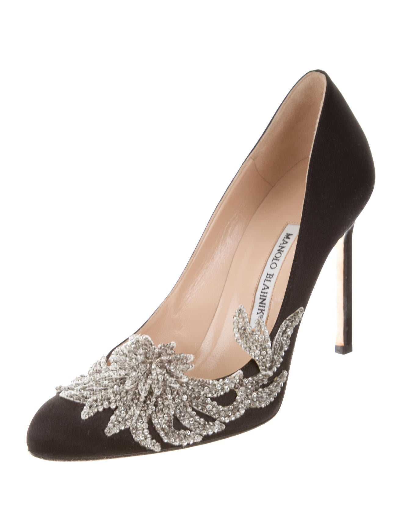 Manolo blahnik satin swan pumps shoes moo63341 the for Shoes by manolo blahnik