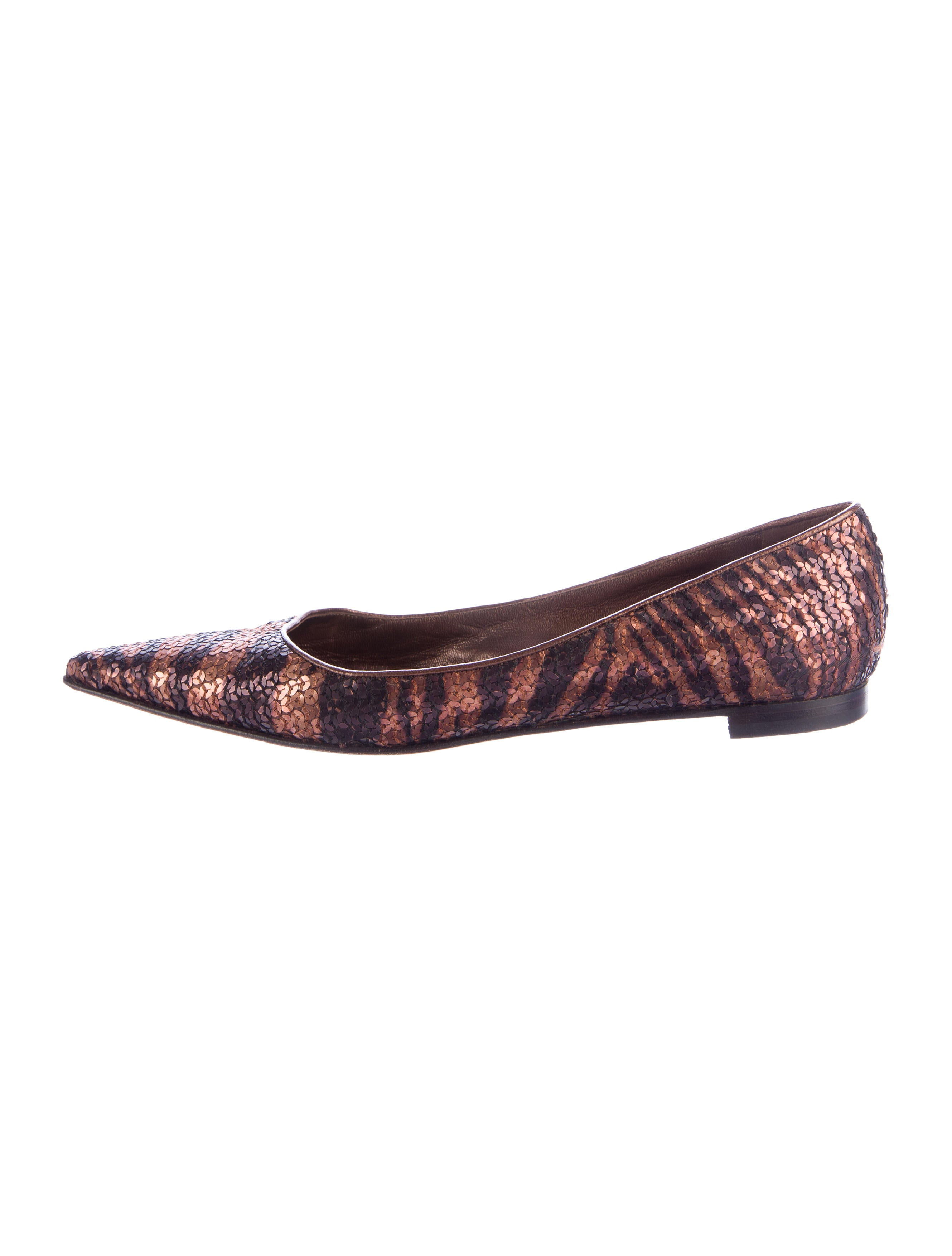Manolo Blahnik Sequin Pointed-Toe Flats discount outlet 2NFWvPw9q