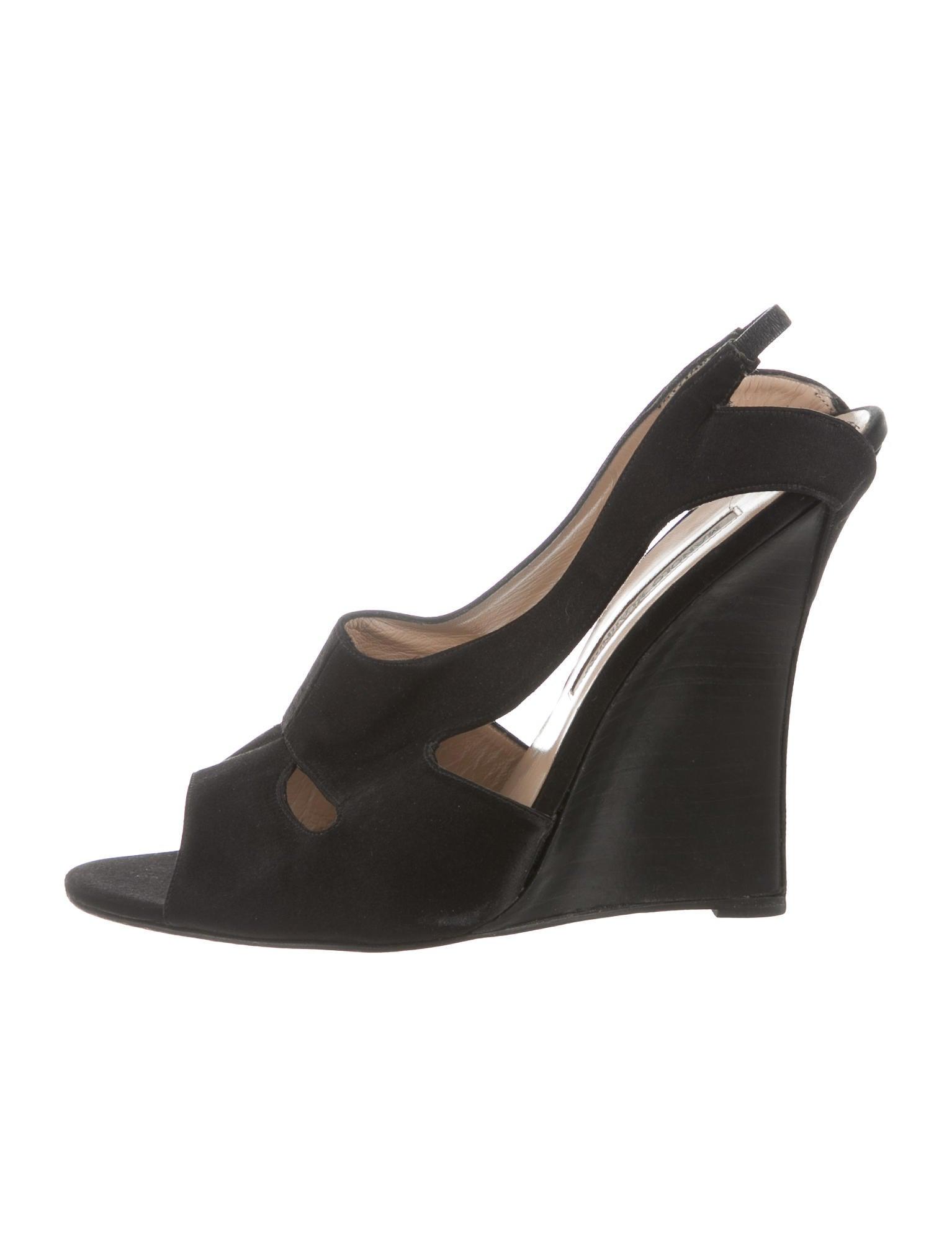 manolo blahnik satin wedge sandals shoes moo64532