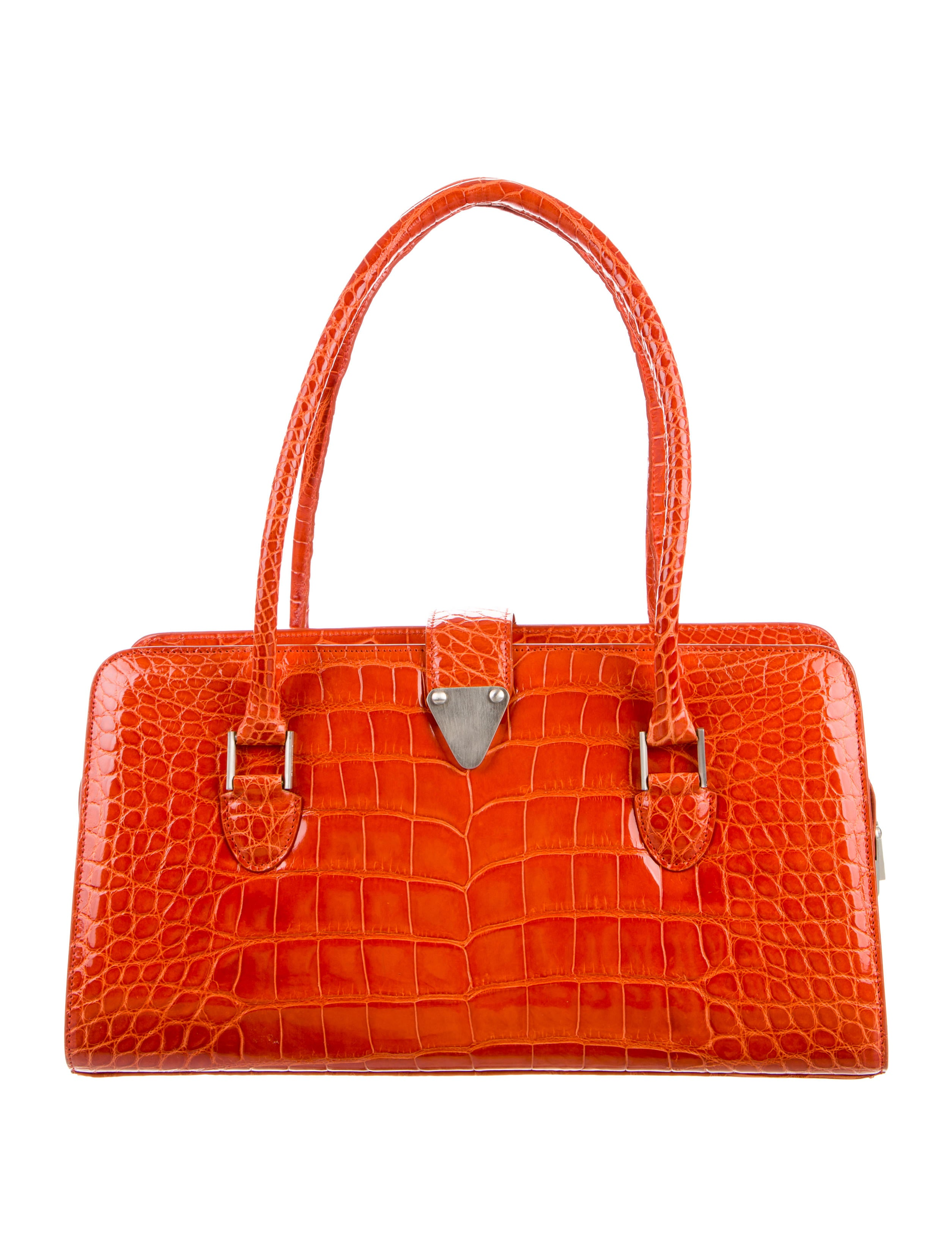 Manolo Blahnik Alligator Shoulder Bag