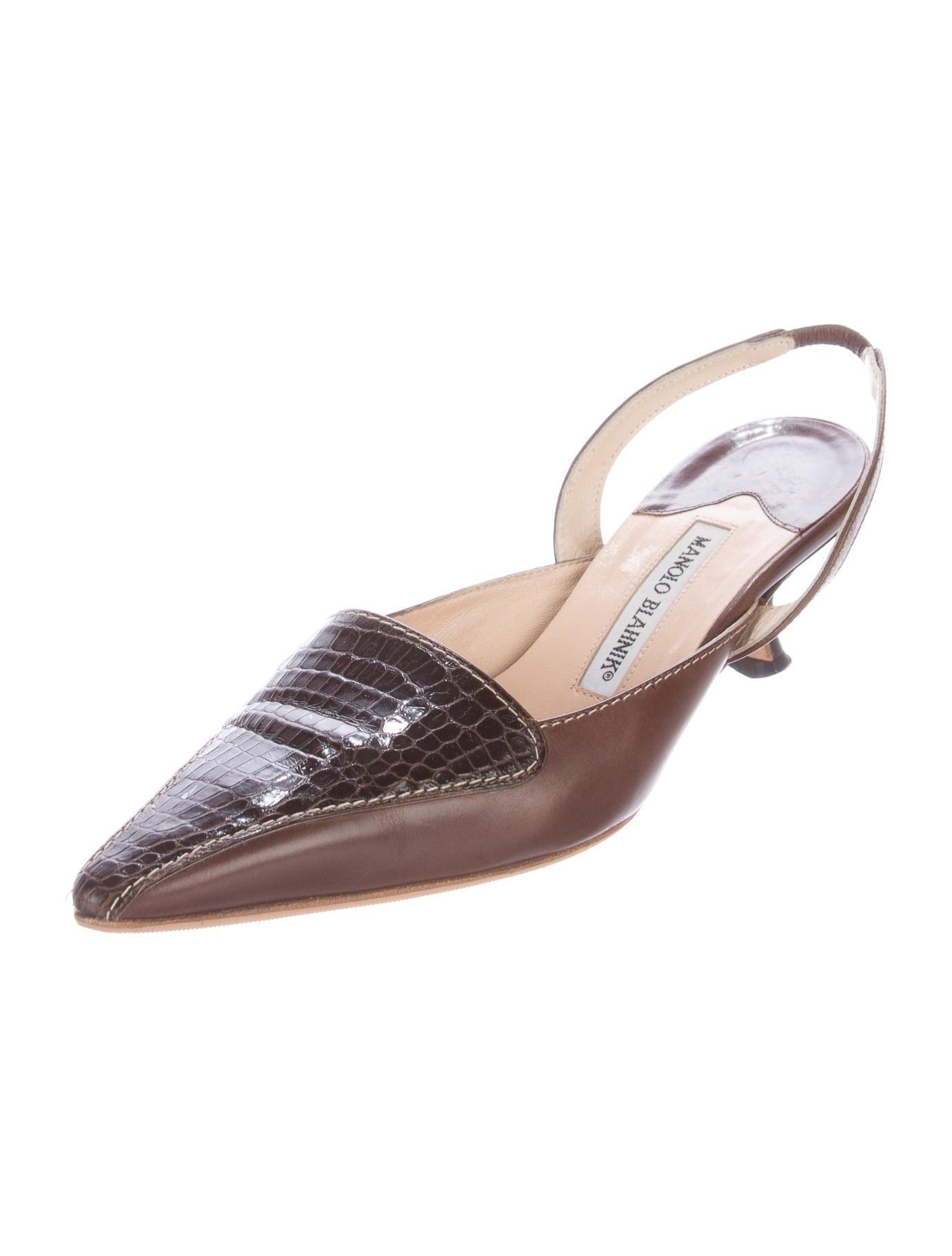 Light Brown Alligator Shoes For Women