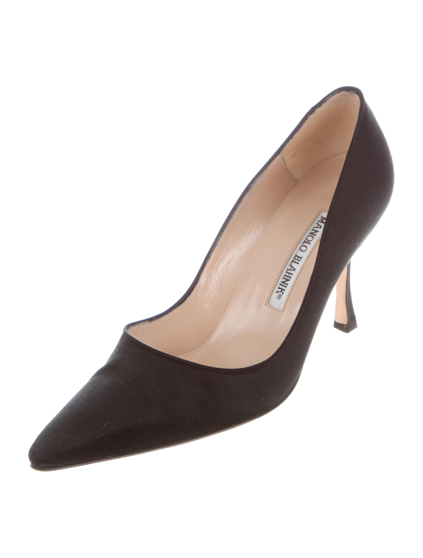 Manolo blahnik tuccio satin pumps shoes moo66356 the for Who is manolo blahnik