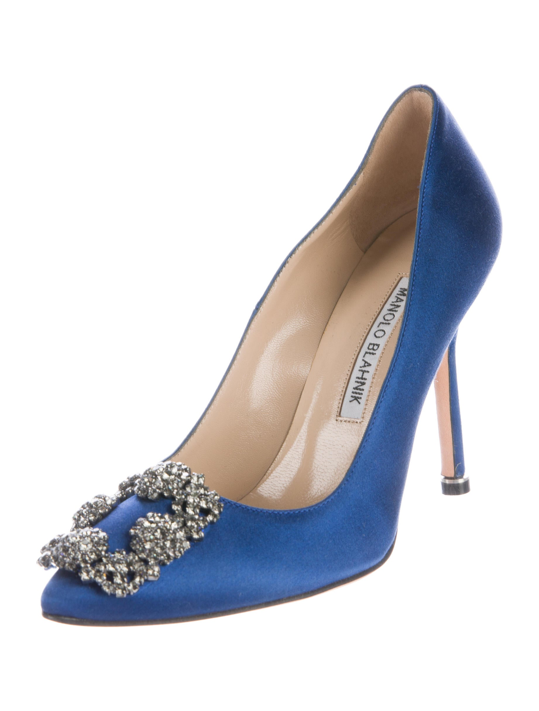 Manolo blahnik hangisi satin pumps shoes moo68107 for Shoes by manolo blahnik