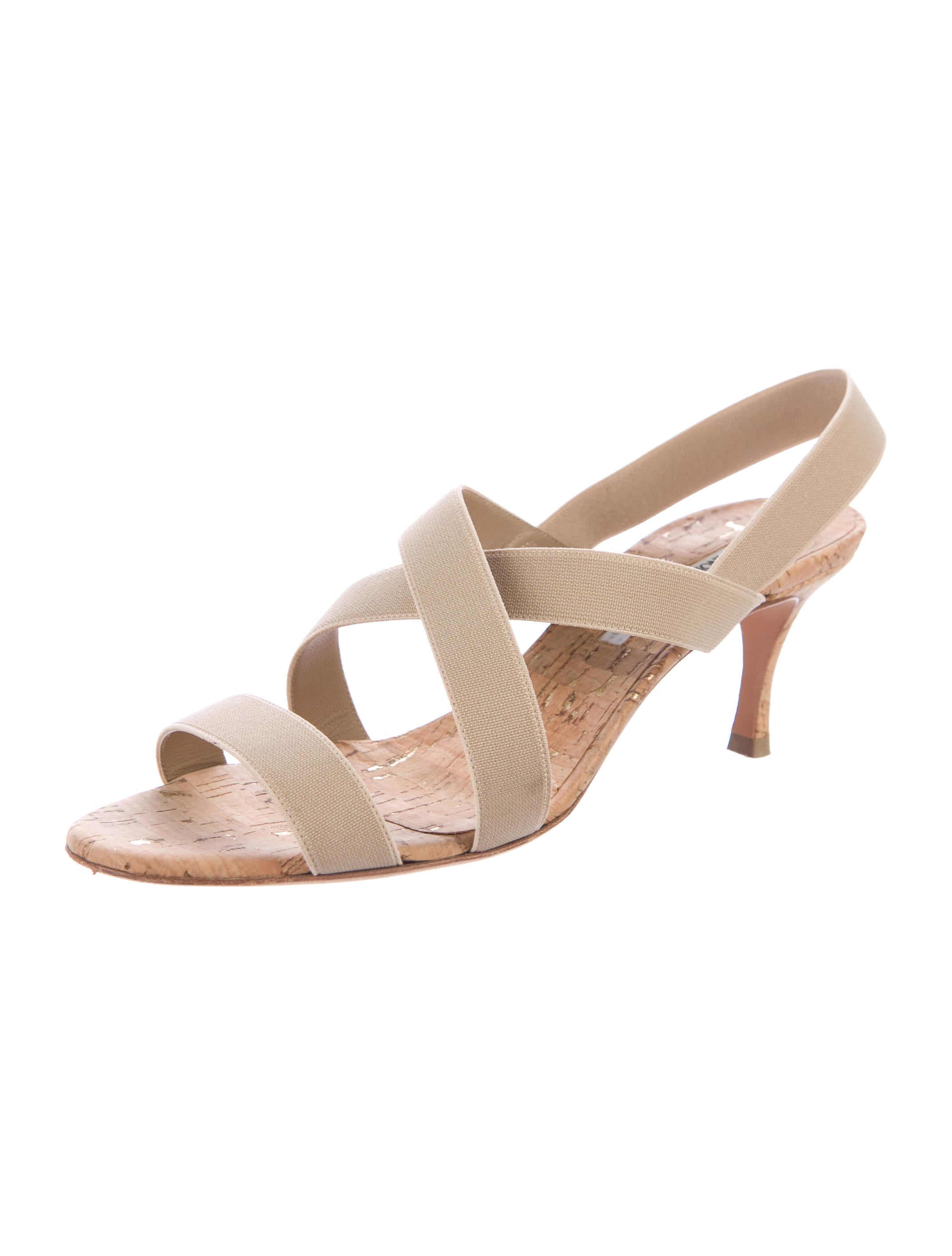 Manolo blahnik slingback crossover sandals shoes for Shoes by manolo blahnik