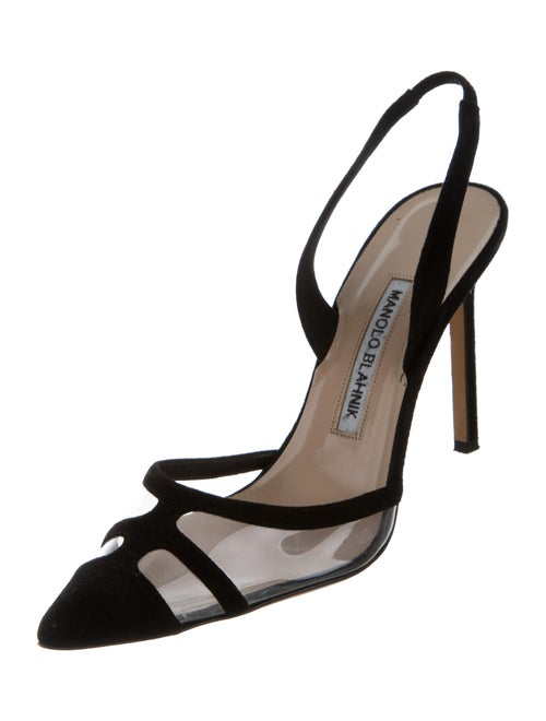 34a4d98655f6 Manolo Blahnik PVC-Paneled Slingback Pumps - Shoes - MOO70196