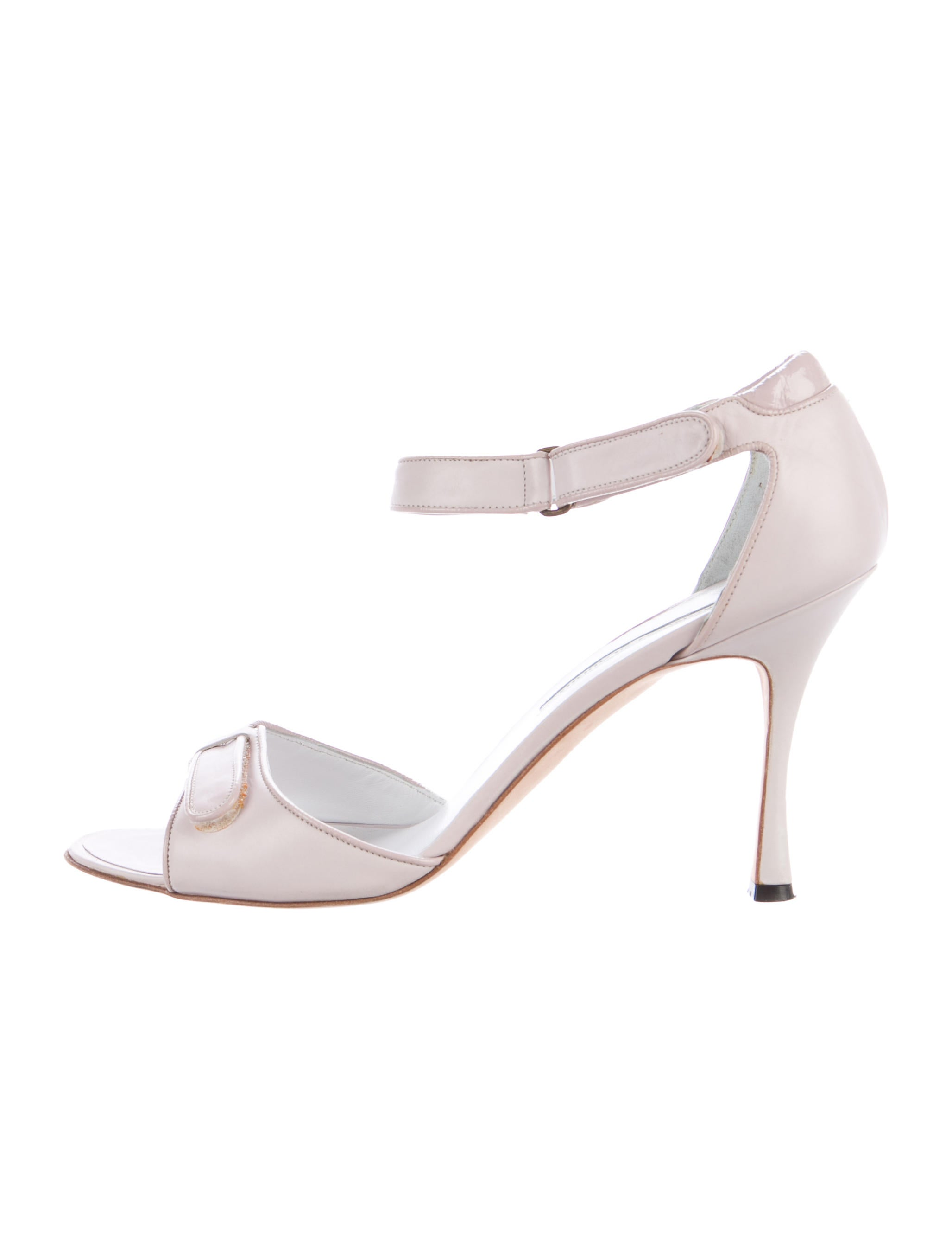 new arrival cheap price find great Manolo Blahnik Leather Velcro Sandals amazing price cheap price 1WejW3JR