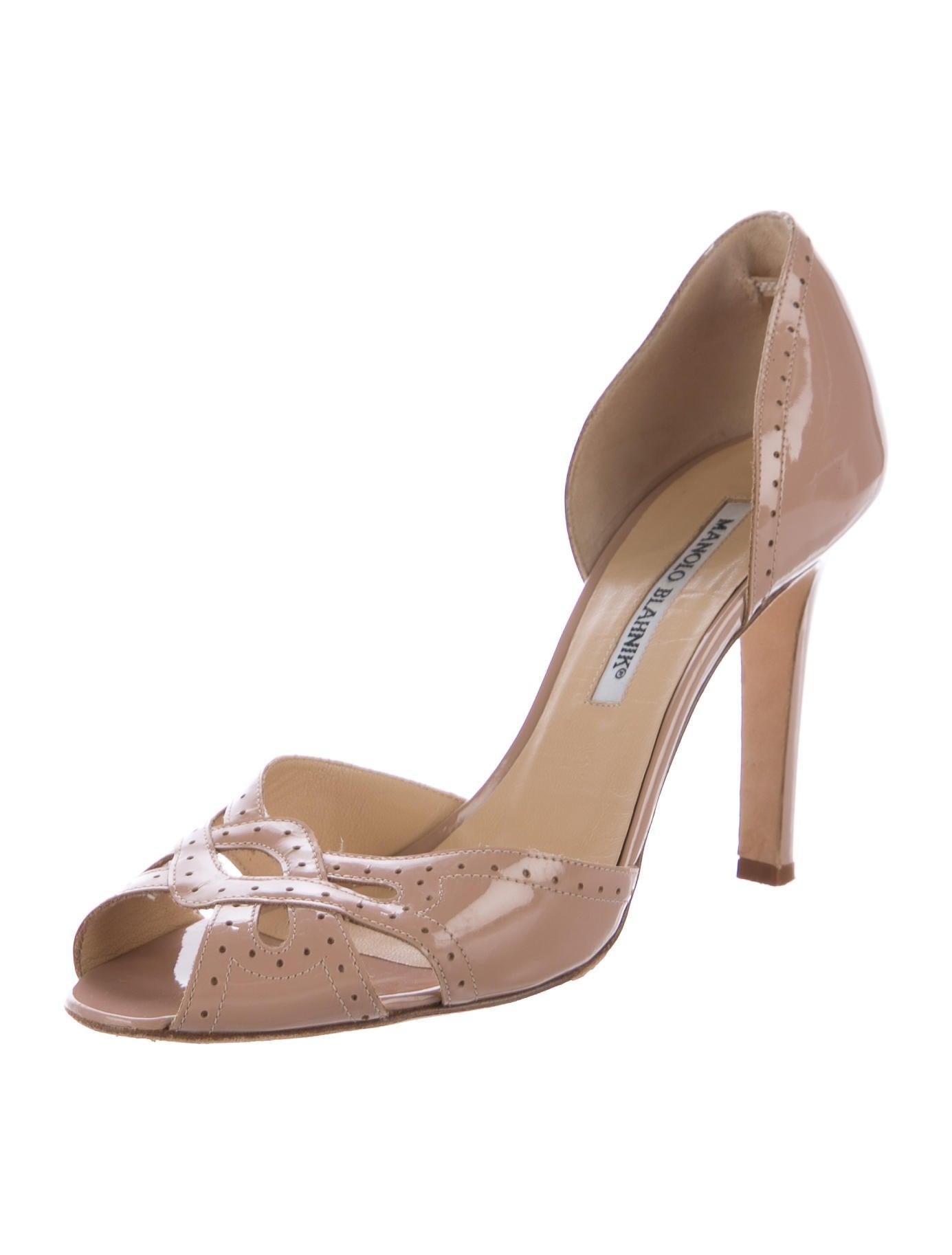 Manolo blahnik peep toe d 39 orsay pumps shoes moo70837 for Shoes by manolo blahnik