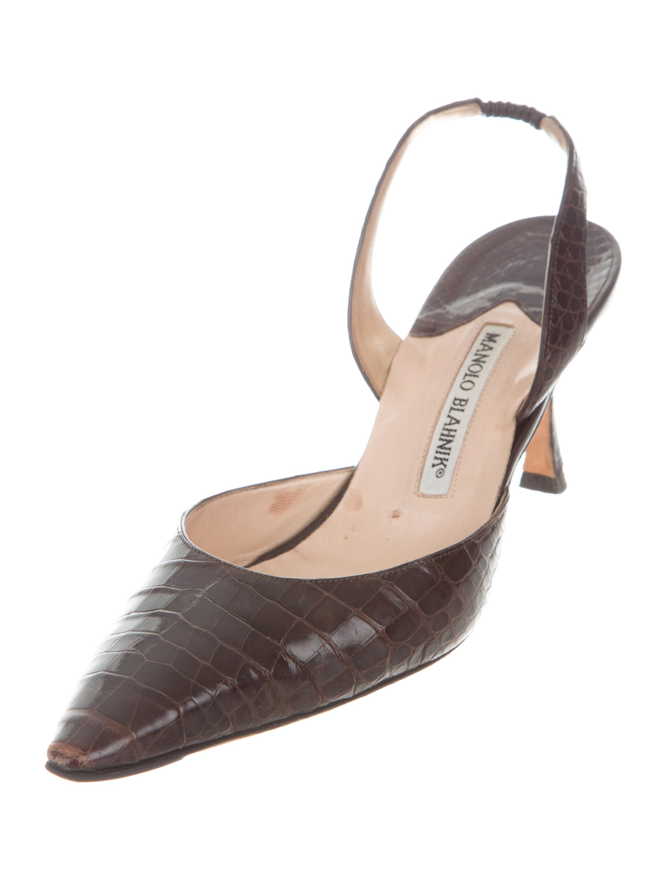 Manolo blahnik alligator carolyne pumps shoes moo71292 for Shoes by manolo blahnik