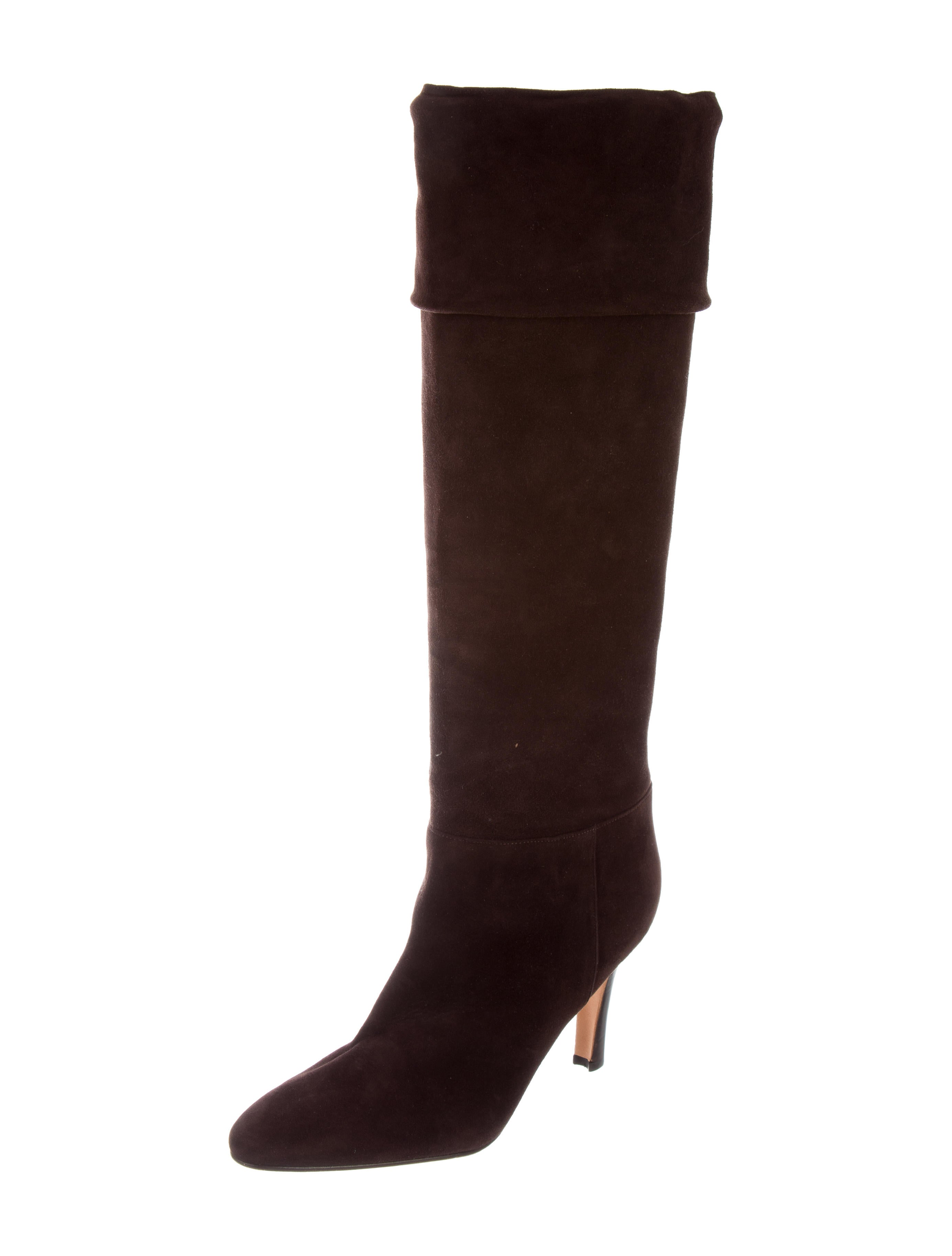 manolo blahnik suede knee high boots shoes moo72222