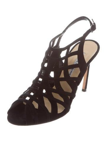 manolo blahnik suede caged slingback sandals manolo blahnik suede caged slingback sandals