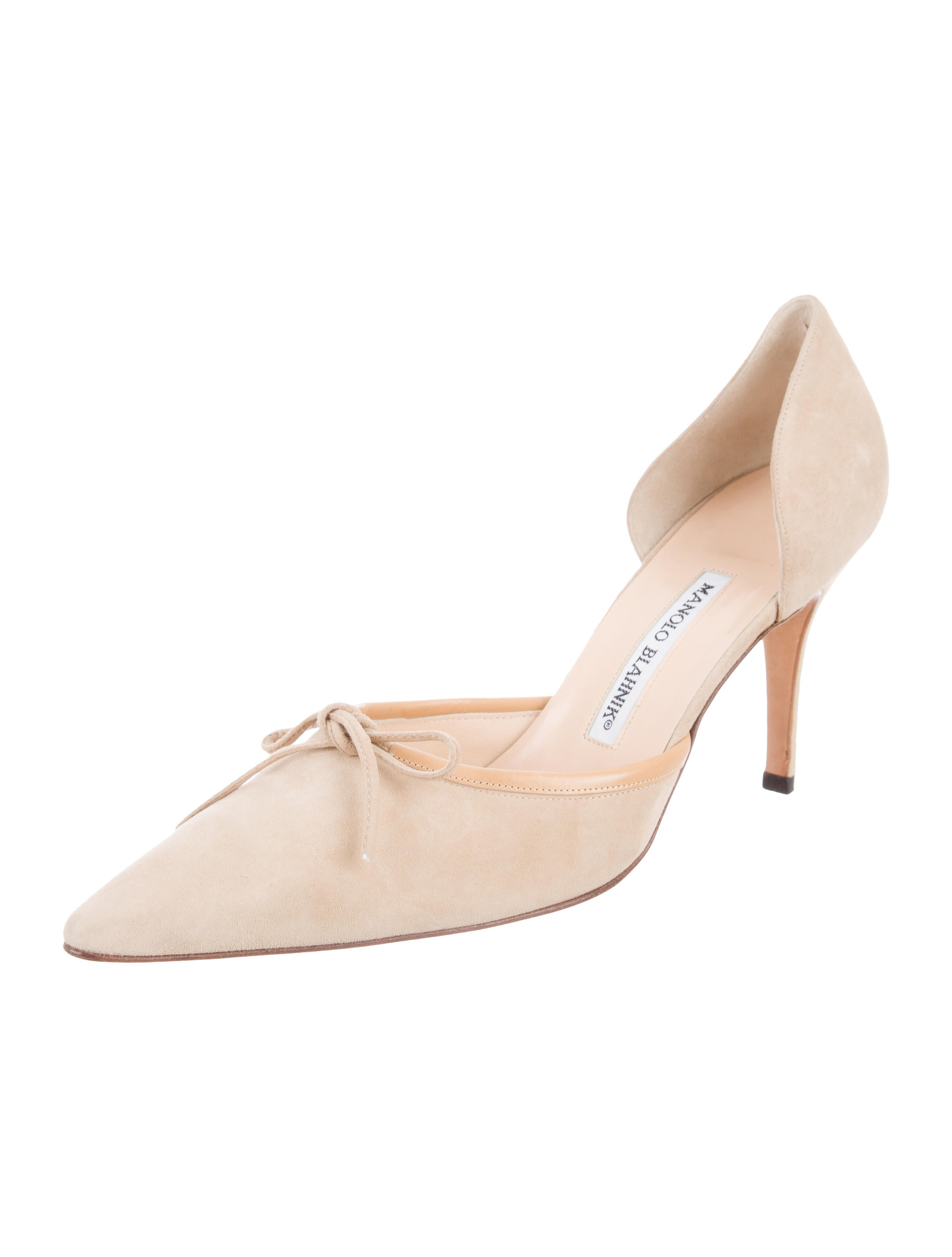 Manolo blahnik suede d 39 orsay pumps shoes moo72754 for Shoes by manolo blahnik
