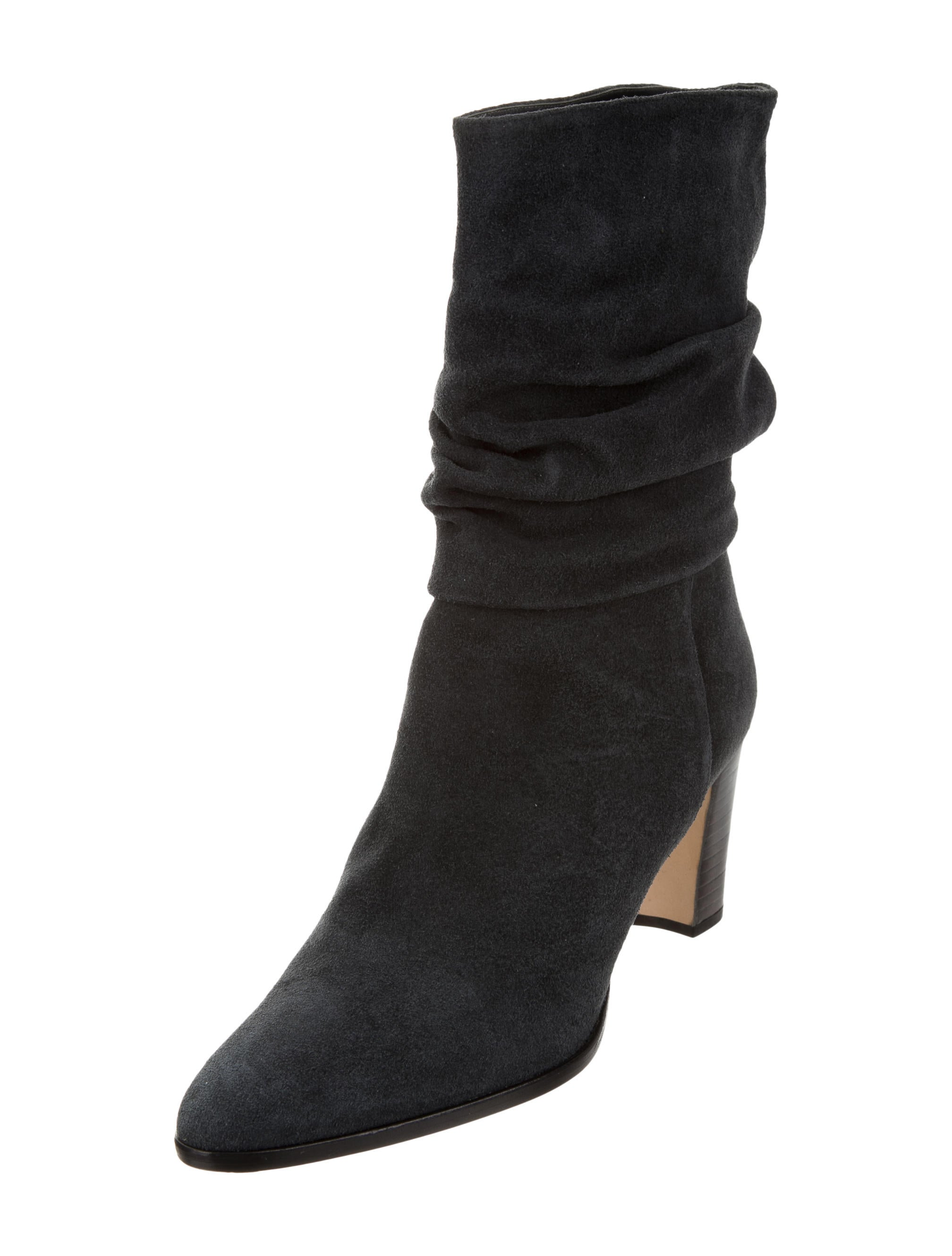 32c70735859 Manolo Blahnik Ruched Suede Ankle Boots w  Tags - Shoes - MOO73983 ...