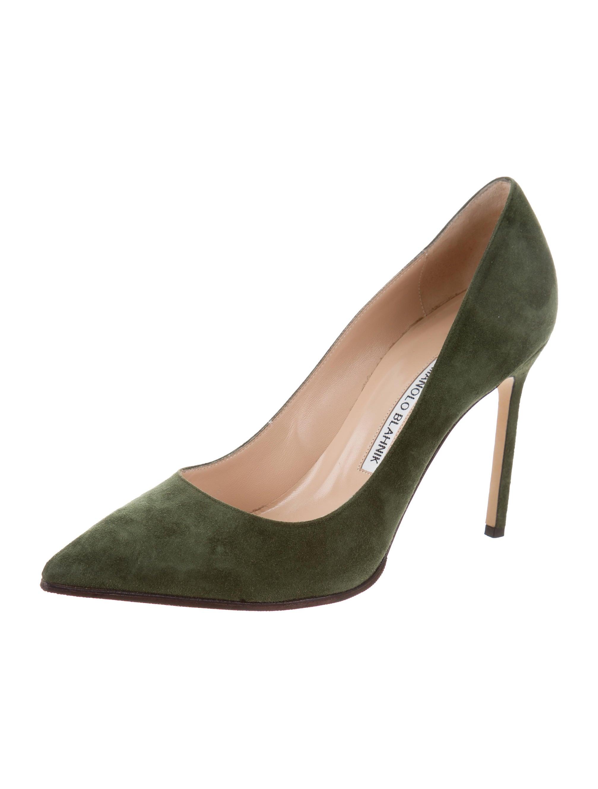 Manolo Blahnik Suede Bb Pumps Shoes Moo74507 The