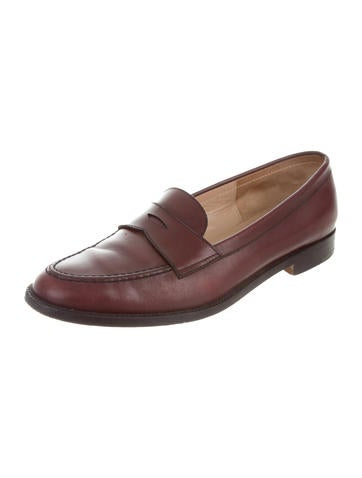 Manolo Blahnik Leather Round-Toe Loafers outlet looking for NV0TOUTG7X