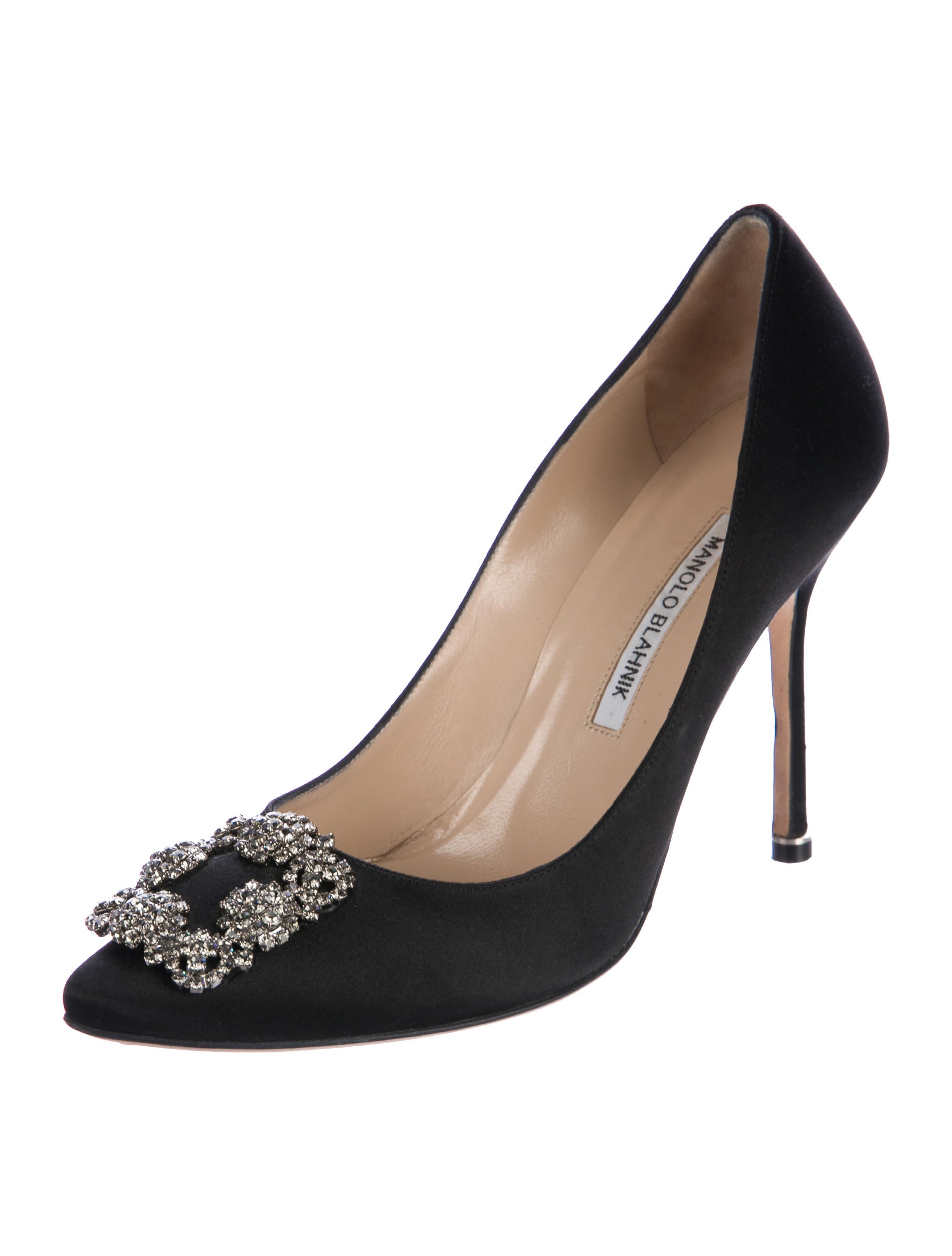Manolo blahnik hangisi satin pumps shoes moo75497 for Shoes by manolo blahnik