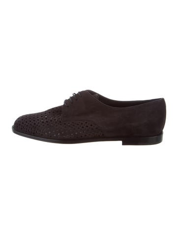 shop offer online Manolo Blahnik Aferi Suede Oxfords w/ Tags outlet clearance DJFjha