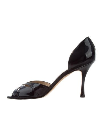 with mastercard cheap online cheap sale looking for Manolo Blahnik Patent Leather Crossover Sandals for sale online outlet store sale online KVJYl0Nh