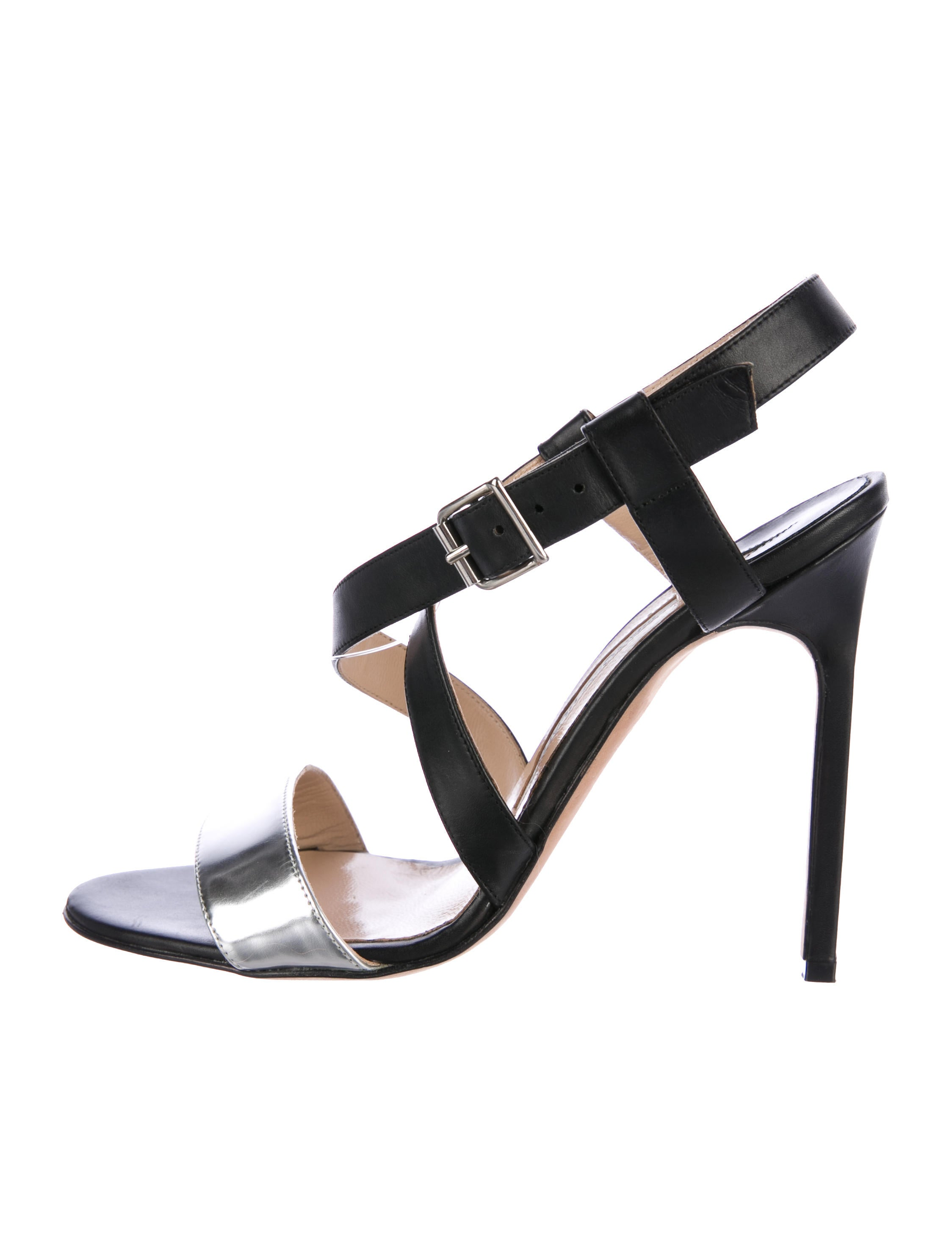 Manolo Blahnik Crossover Leather Sandals official site real cheap online bB6YA