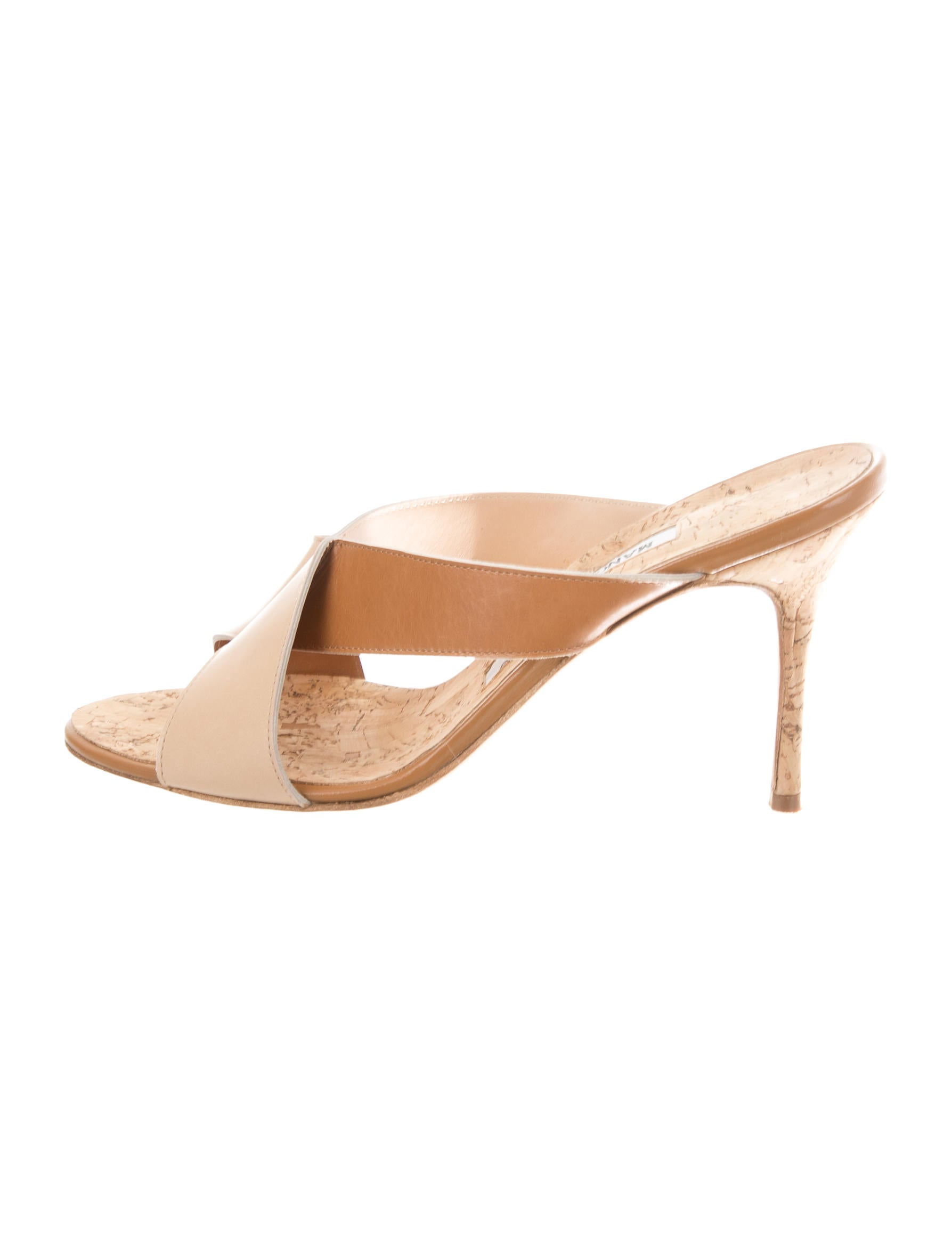 Manolo Blahnik Crossover Slide Sandals buy authentic online shop offer sale online latest collections online clearance brand new unisex get to buy cheap online KHiSPy