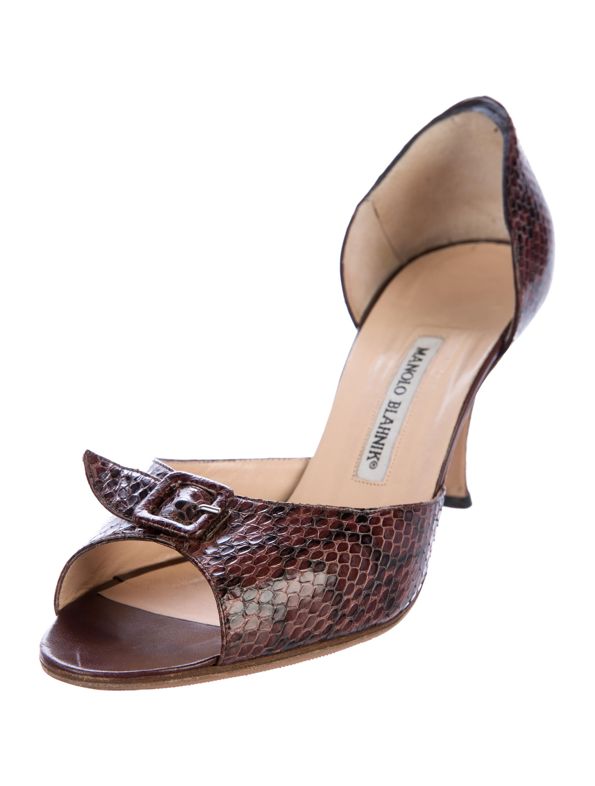 Manolo Blahnik Dipado Snakeskin Pumps buy authentic online cheap cost OubC38j