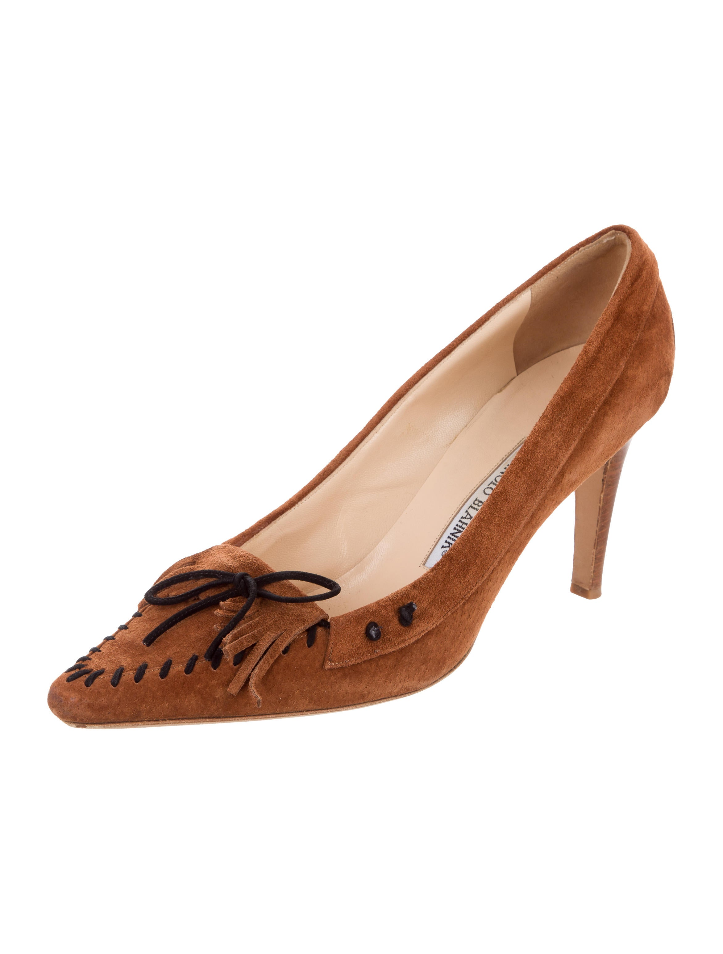 clearance websites cheap discount sale Manolo Blahnik Suede Kiltie Pumps high quality free shipping discounts 7ccH1