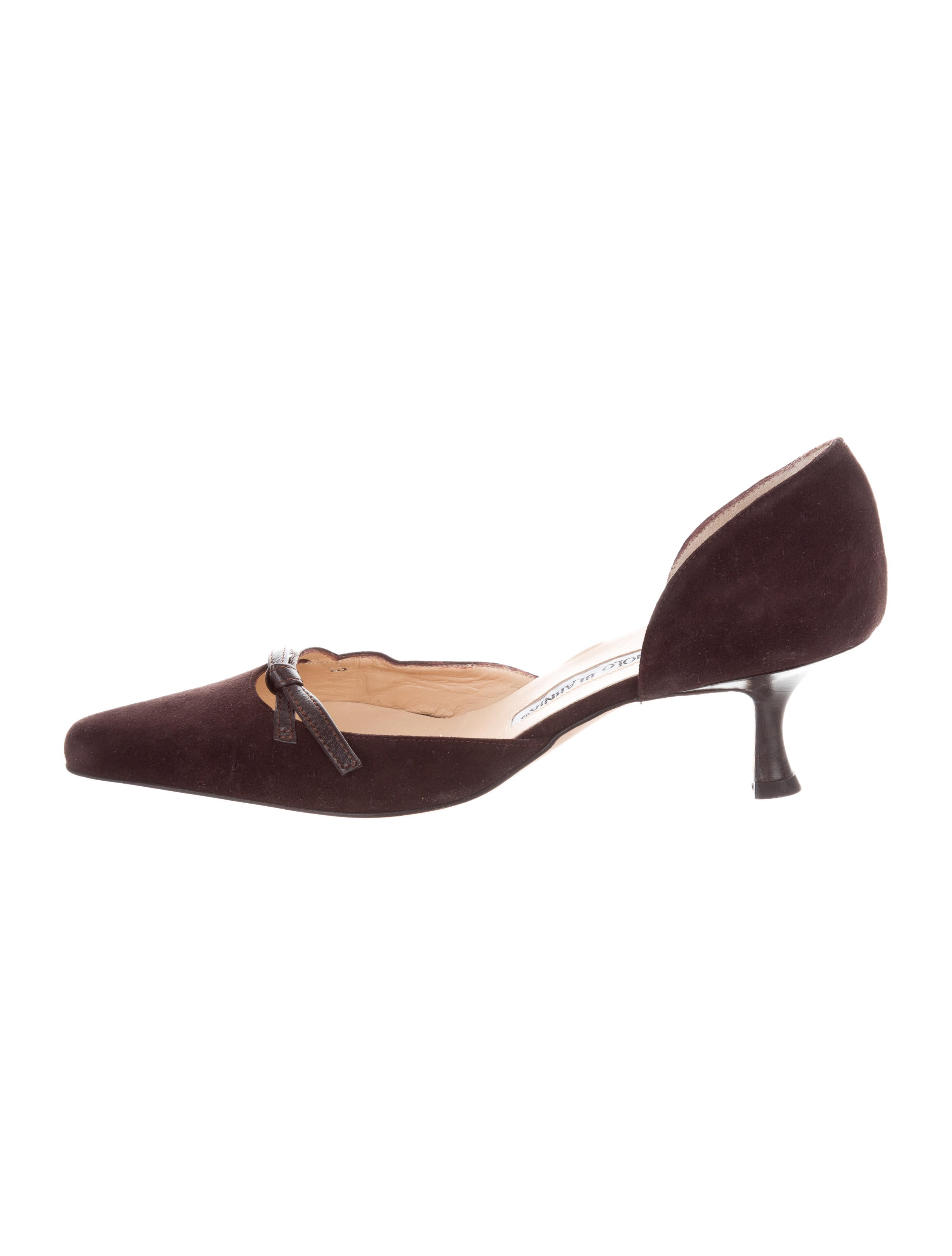 Manolo Blahnik Knot-Accented D'Orsay Pumps looking for outlet pick a best cheap pick a best ZTsrm