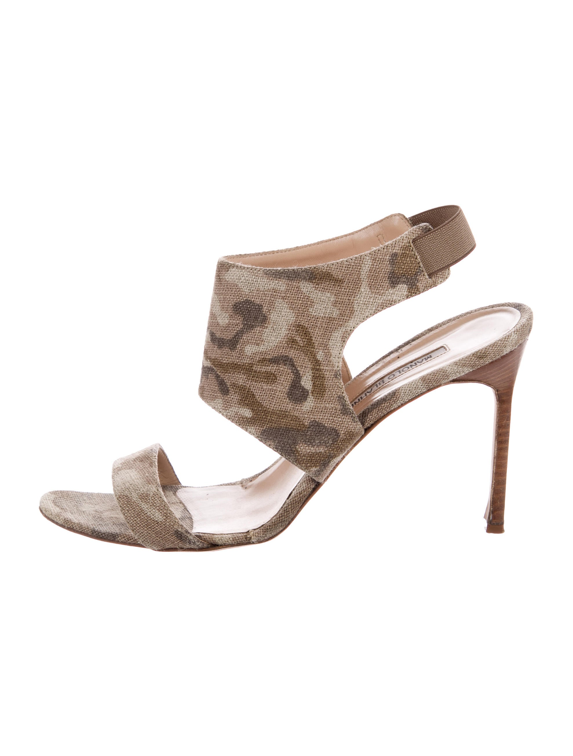 Manolo Blahnik Canvas Camouflage Sandals exclusive online best prices clearance classic footaction cheap online fN69TT
