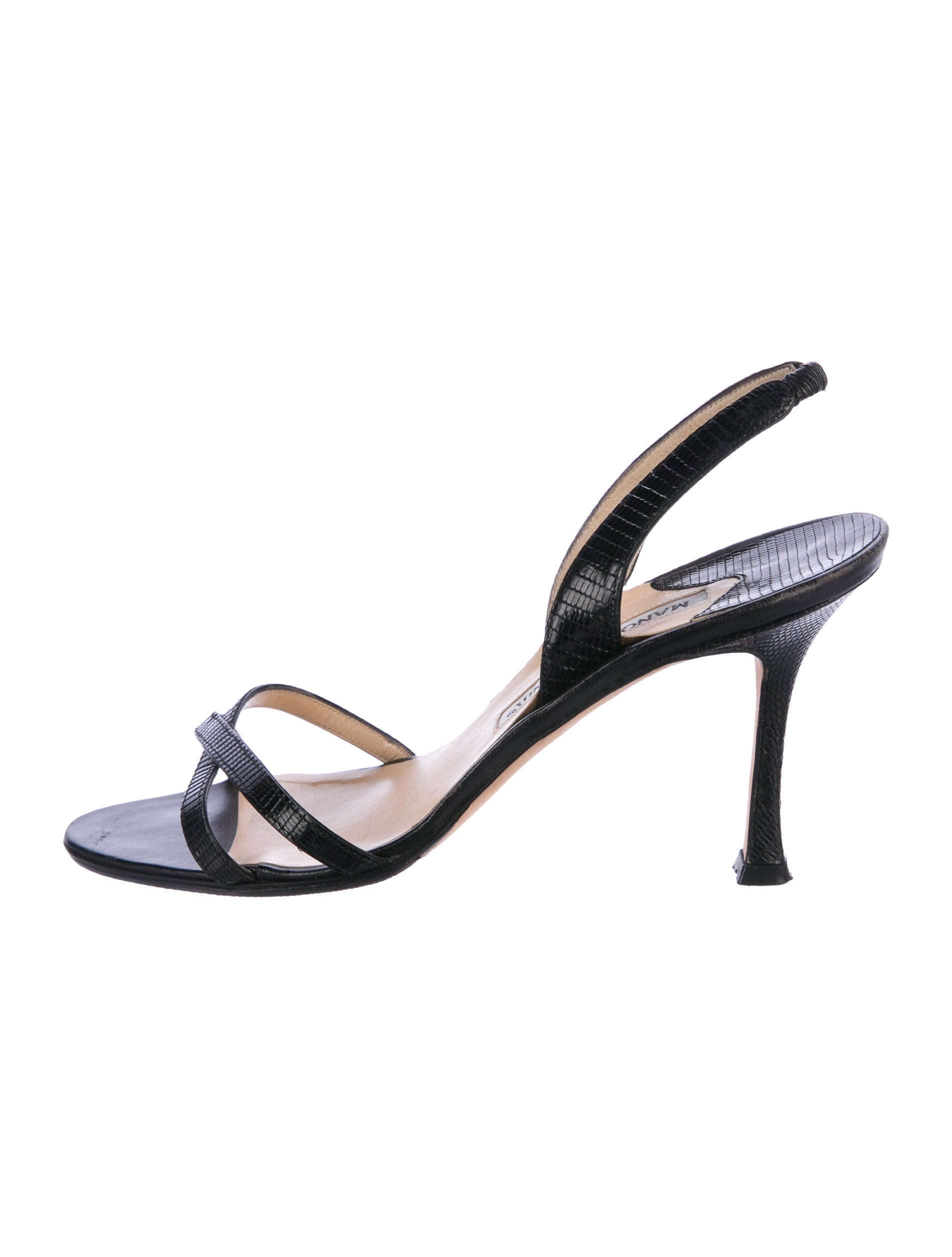Manolo Blahnik Lizard Slingback Sandals clearance really cheap sneakernews cheap sast clearance 2014 unisex G9sqa0kK