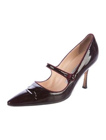 Manolo Blahnik Campari Patent Leather Pumps - Shoes - MOO79212  e2bb56a52