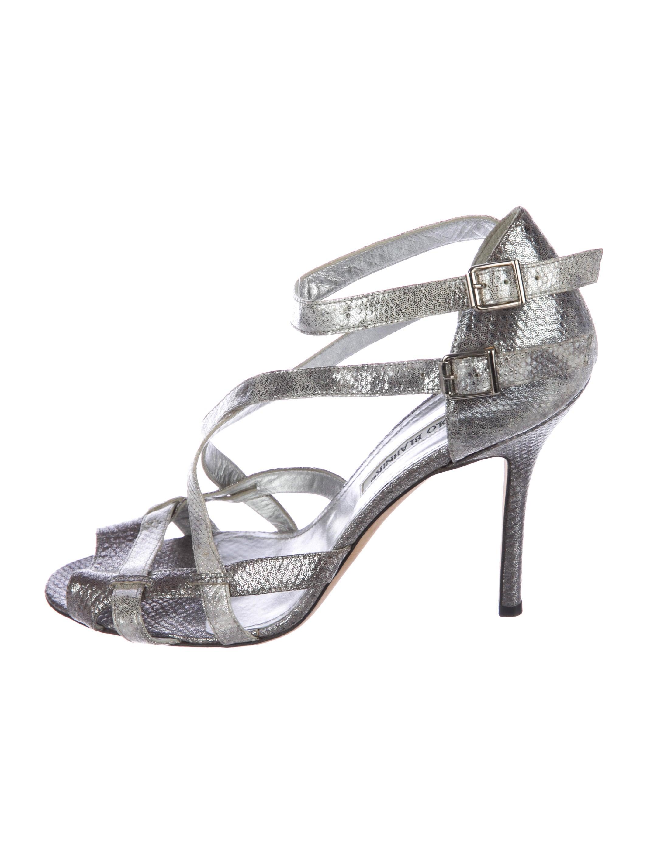 Manolo Blahnik Karung-Accented Multistrap Sandals under 50 dollars cheap sale online Thgi9pvVH