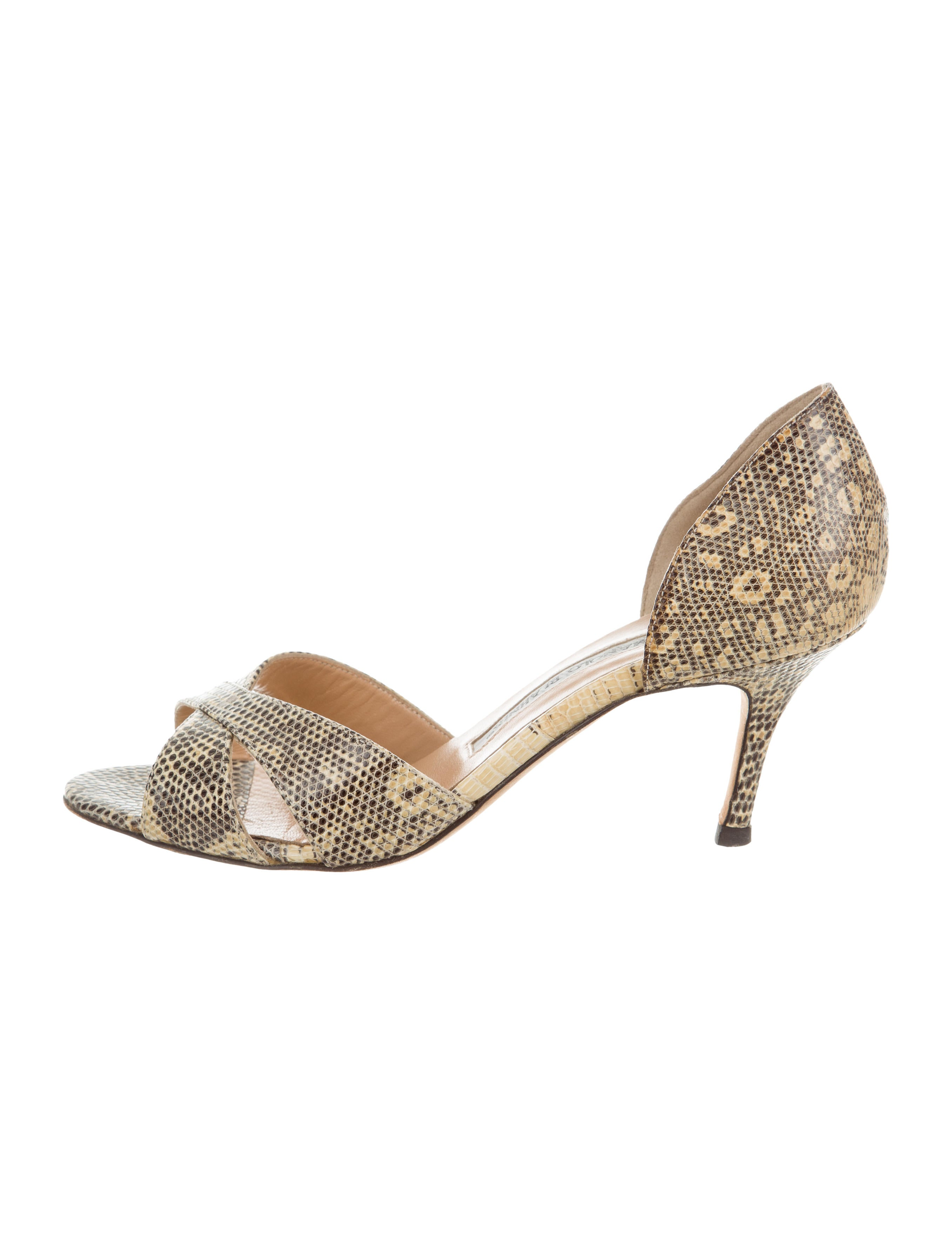 Manolo Blahnik Lizard d'Orsay Pumps outlet for nice 6n4Yxz