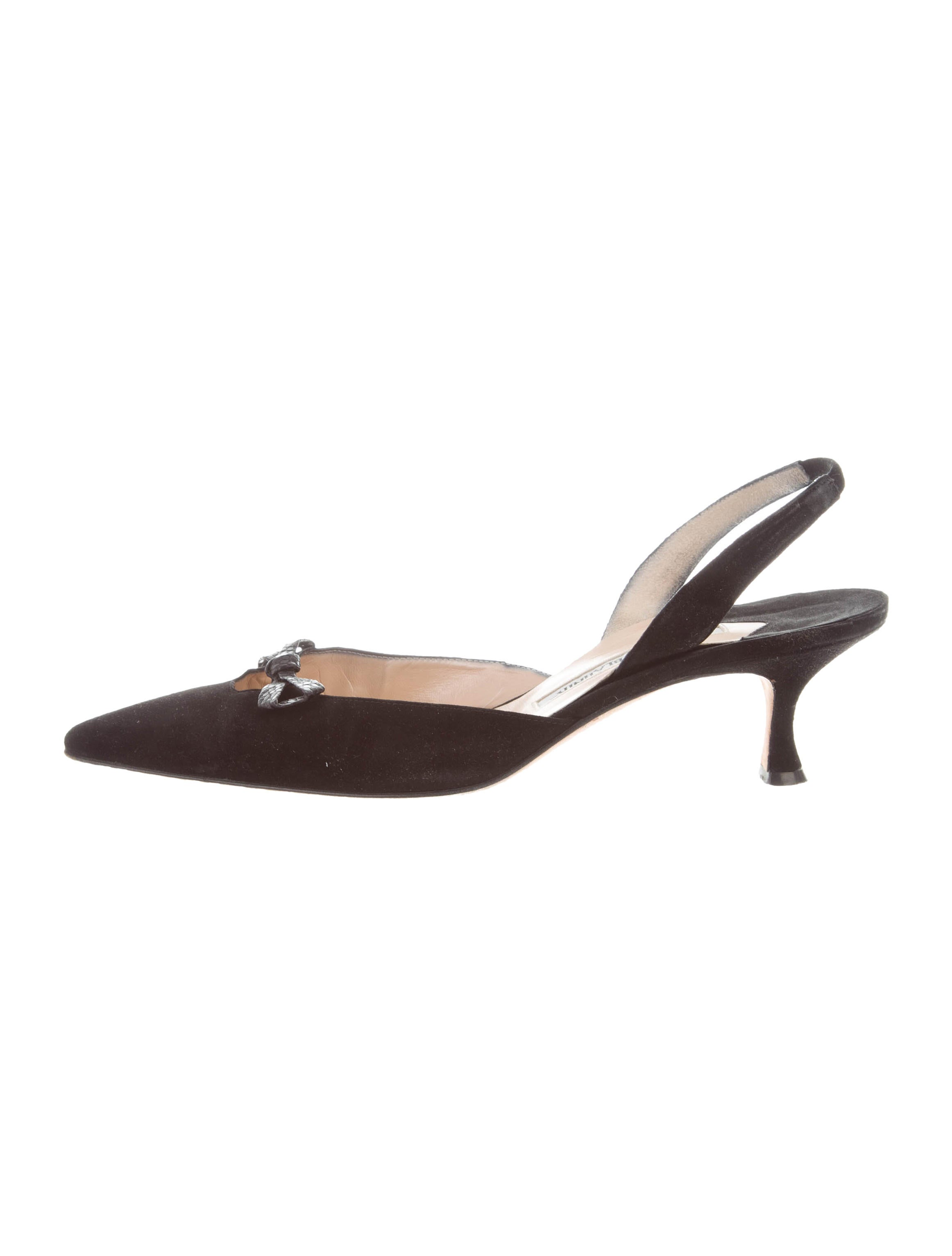 Manolo Blahnik Lizard-Trimmed Pointed-Toe Pumps cost for sale eastbay cheap online real online buy cheap outlet locations shop for sale AXnwN8GkvE