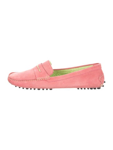 Manolo Blahnik Suede Driving Loafers None