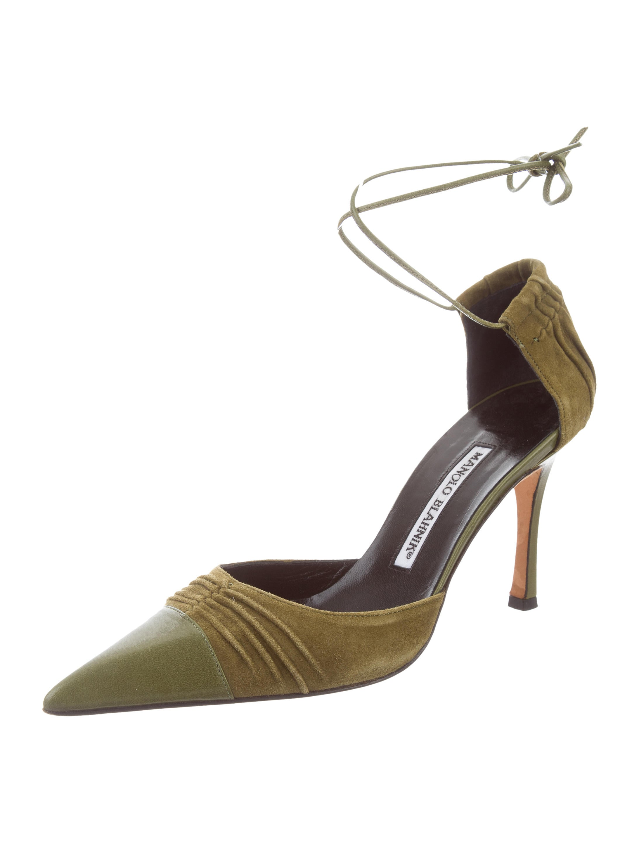 Manolo Blahnik Ruched Slingback Sandals cheap sale with mastercard 0yY801M5