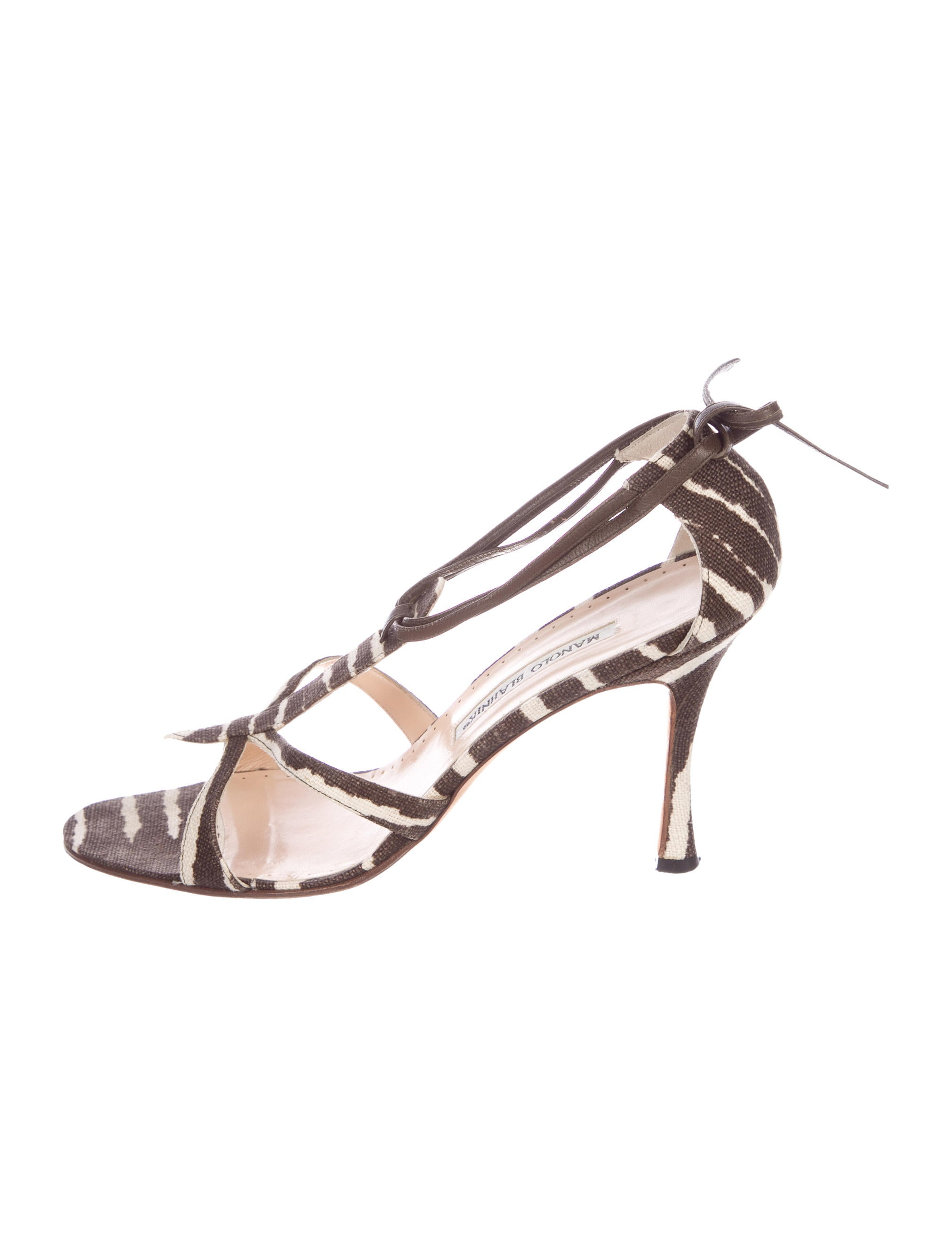cheap discount sale Manolo Blahnik Canvas Multistrap Sandals buy cheap store buy cheap best store to get 7PS95BosRu