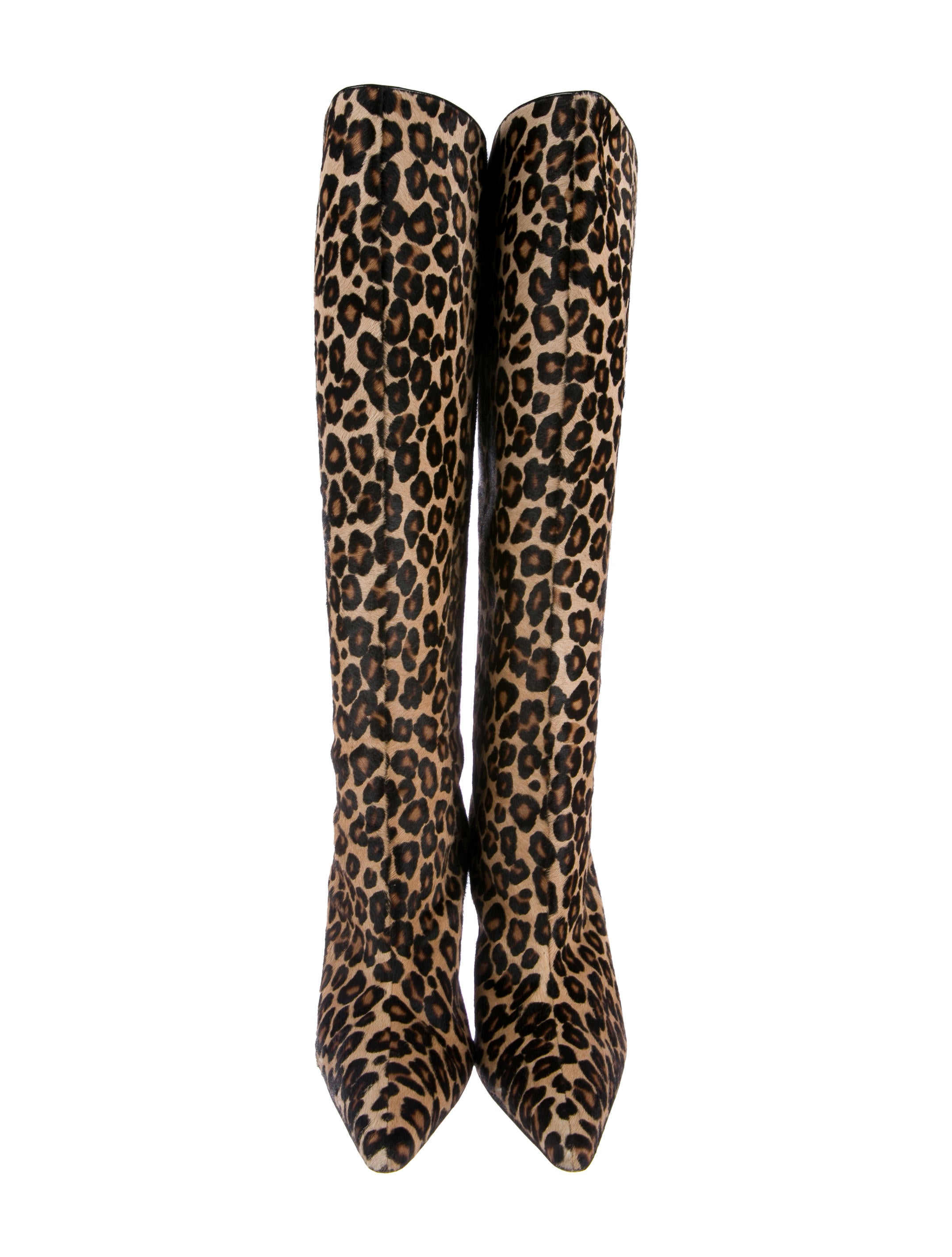 Manolo Blahnik Leopard Ponyhair Knee-High Boots cheapest price sale online esK1Jlj1
