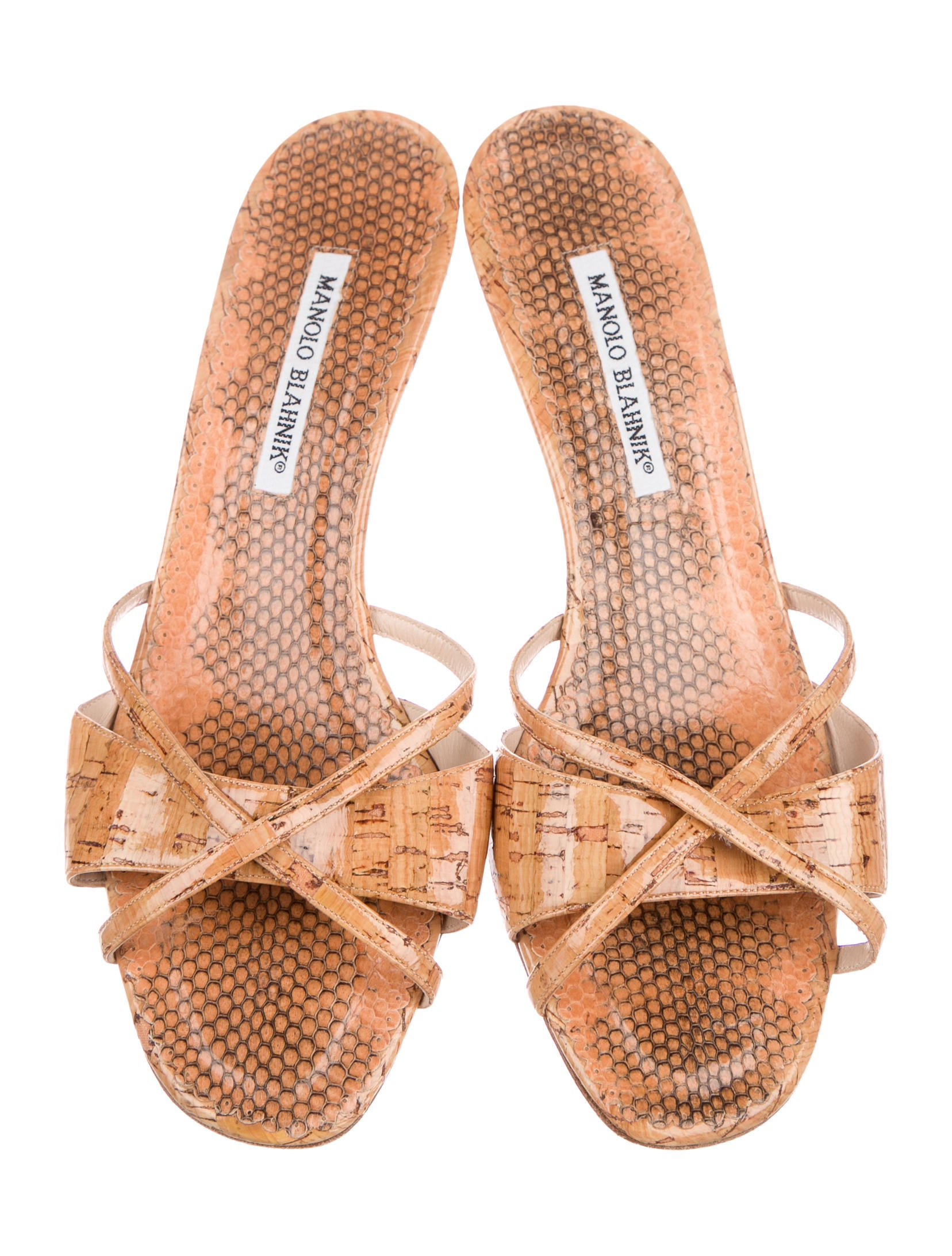 free shipping release dates sale newest Manolo Blahnik Lee Cork Slide Sandals outlet cheapest price how much cheap online icdrTa1K
