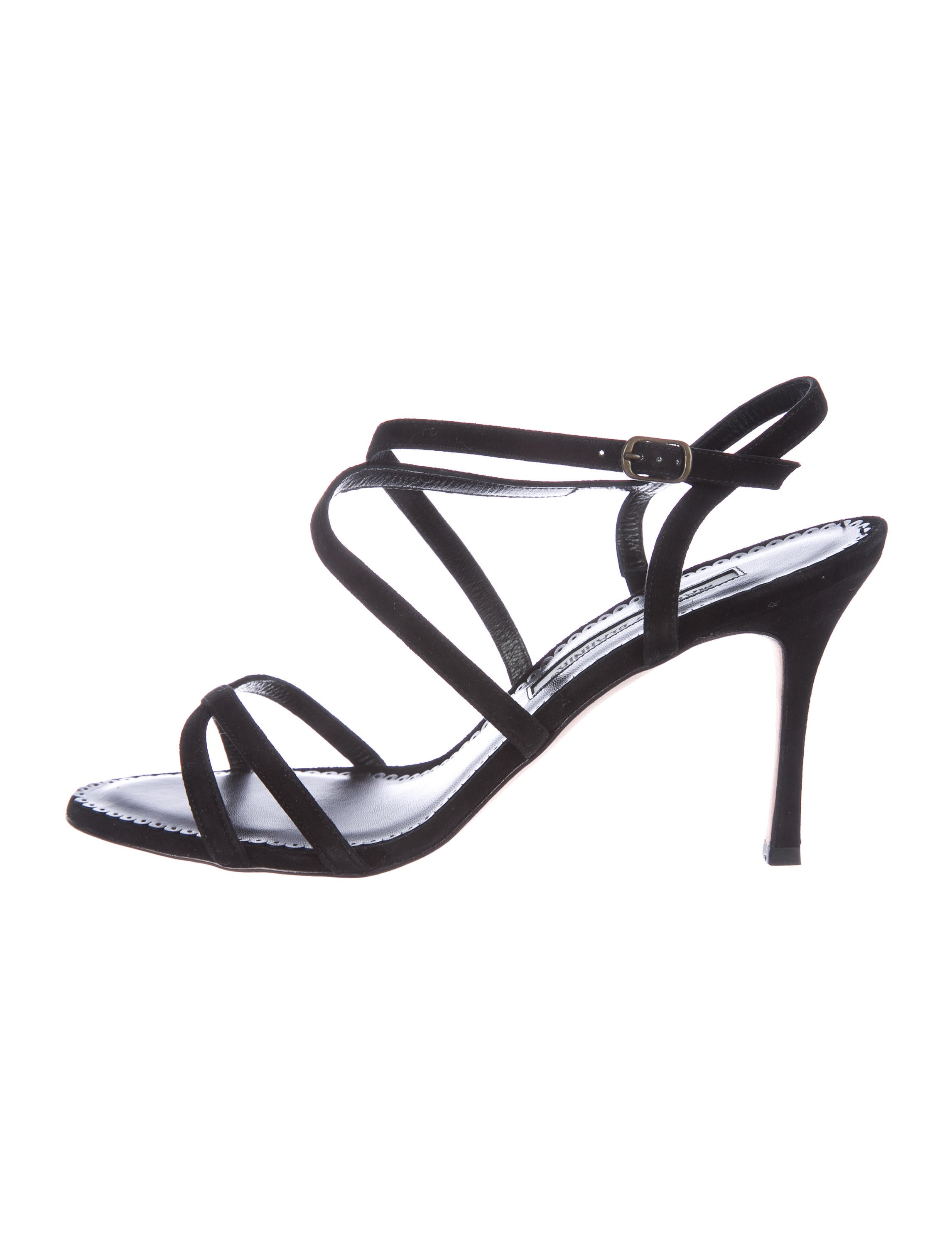 Manolo Blahnik Bayan Suede Sandals w/ Tags many kinds of cheap online QyF2o
